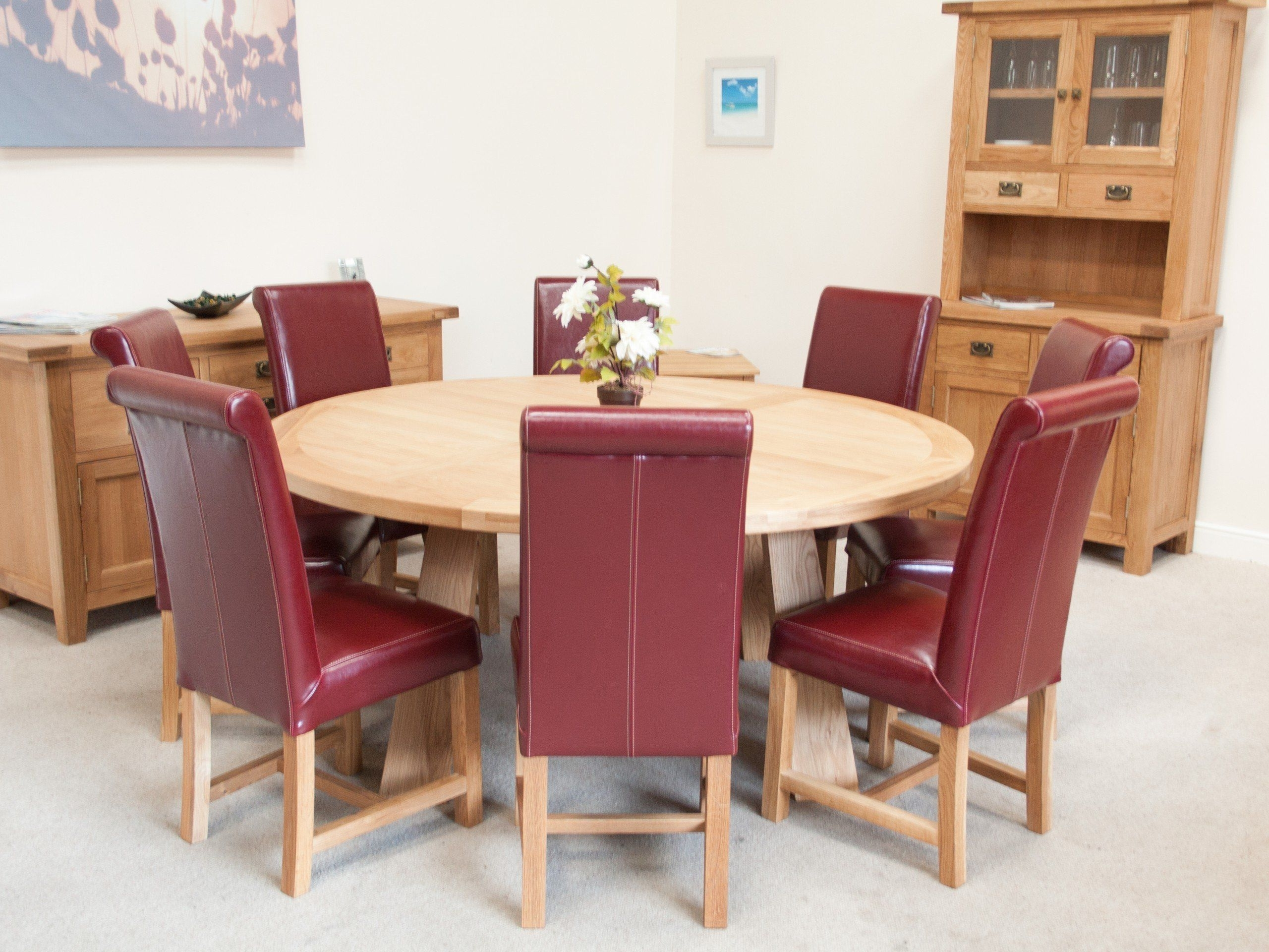 Well Known Round 6 Seater Dining Tables Intended For Large Round 6 Seater Oak Dining Room Table – Top Furniture – Need An (View 25 of 25)
