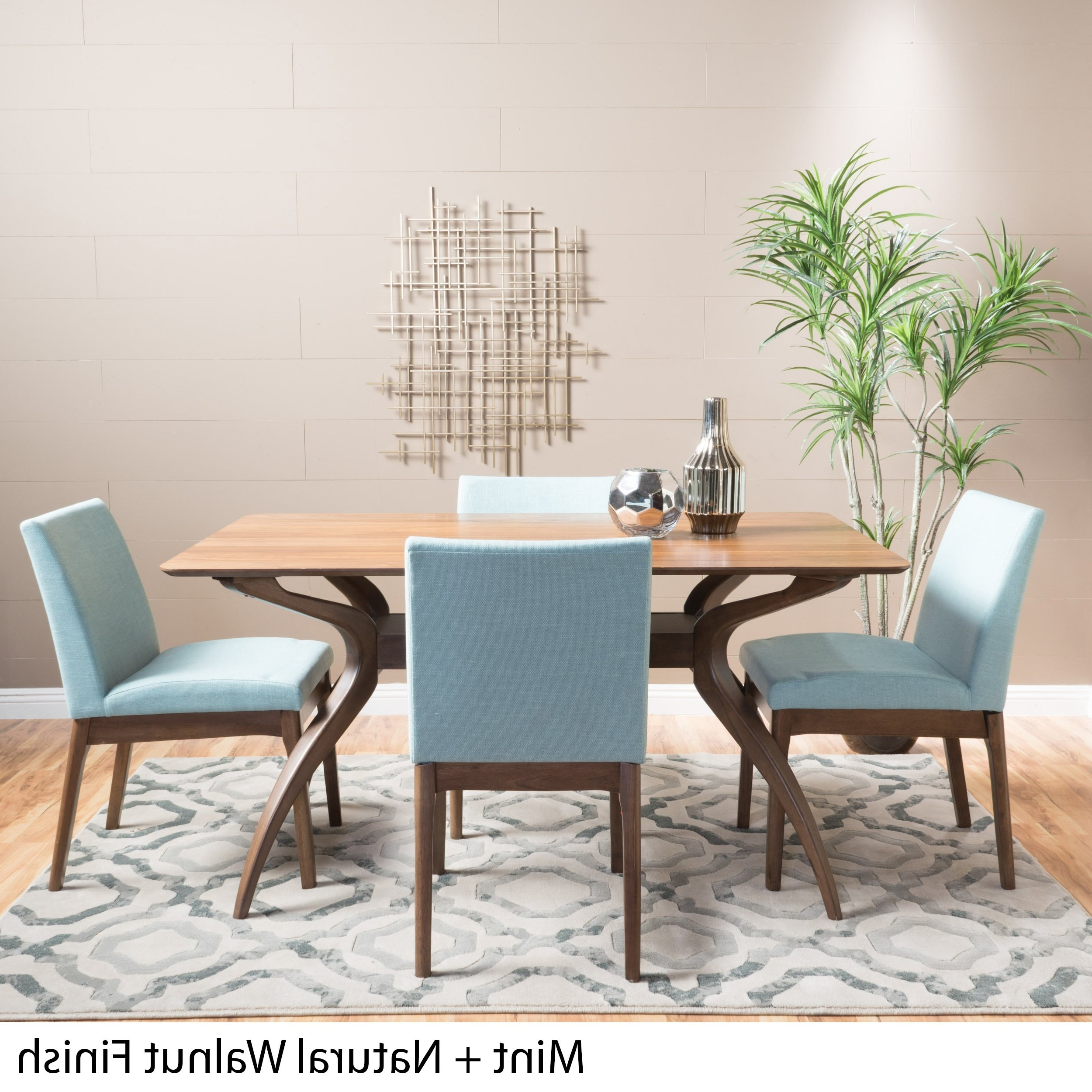 Well Known Shop Kwame Mid Century 5 Piece Rectangle Dining Setchristopher Intended For Laurent 5 Piece Round Dining Sets With Wood Chairs (View 24 of 25)