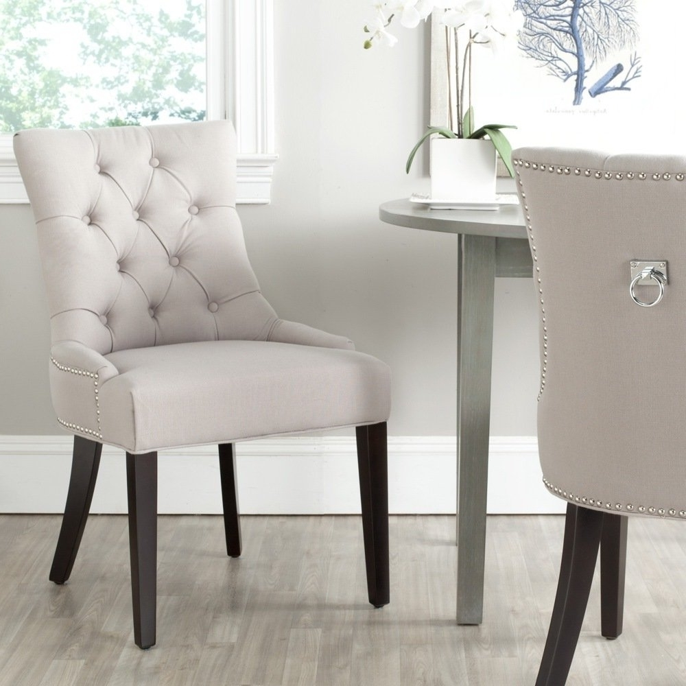 Well Known Shop Safavieh Harlow Grey Ring Chair (Set Of 2) – On Sale – Free With Regard To Caira Black 5 Piece Round Dining Sets With Diamond Back Side Chairs (View 25 of 25)