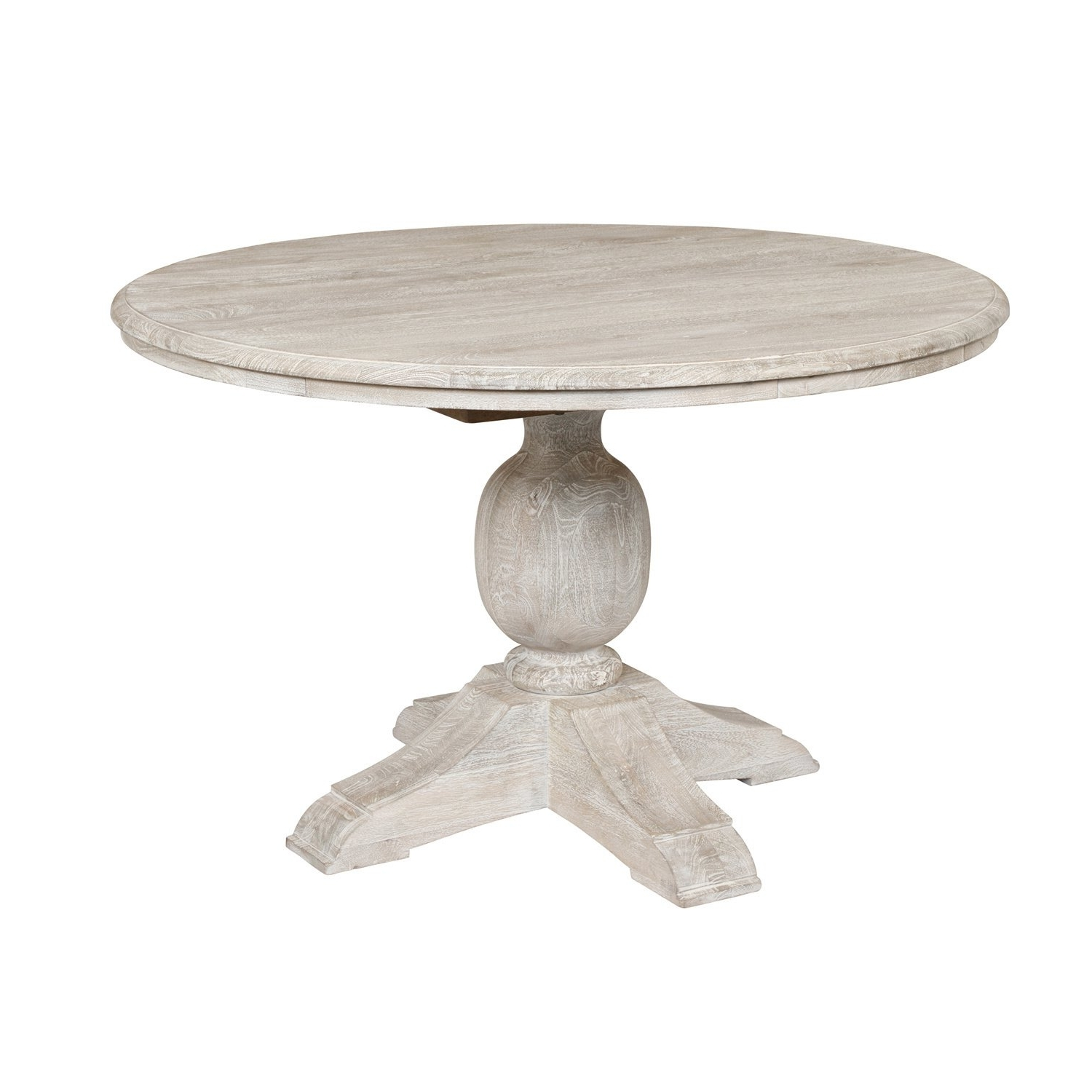Well Known Shop Valencia Wood Antique White 48 Inch Dining Tablekosas Home In Valencia 60 Inch Round Dining Tables (View 15 of 25)