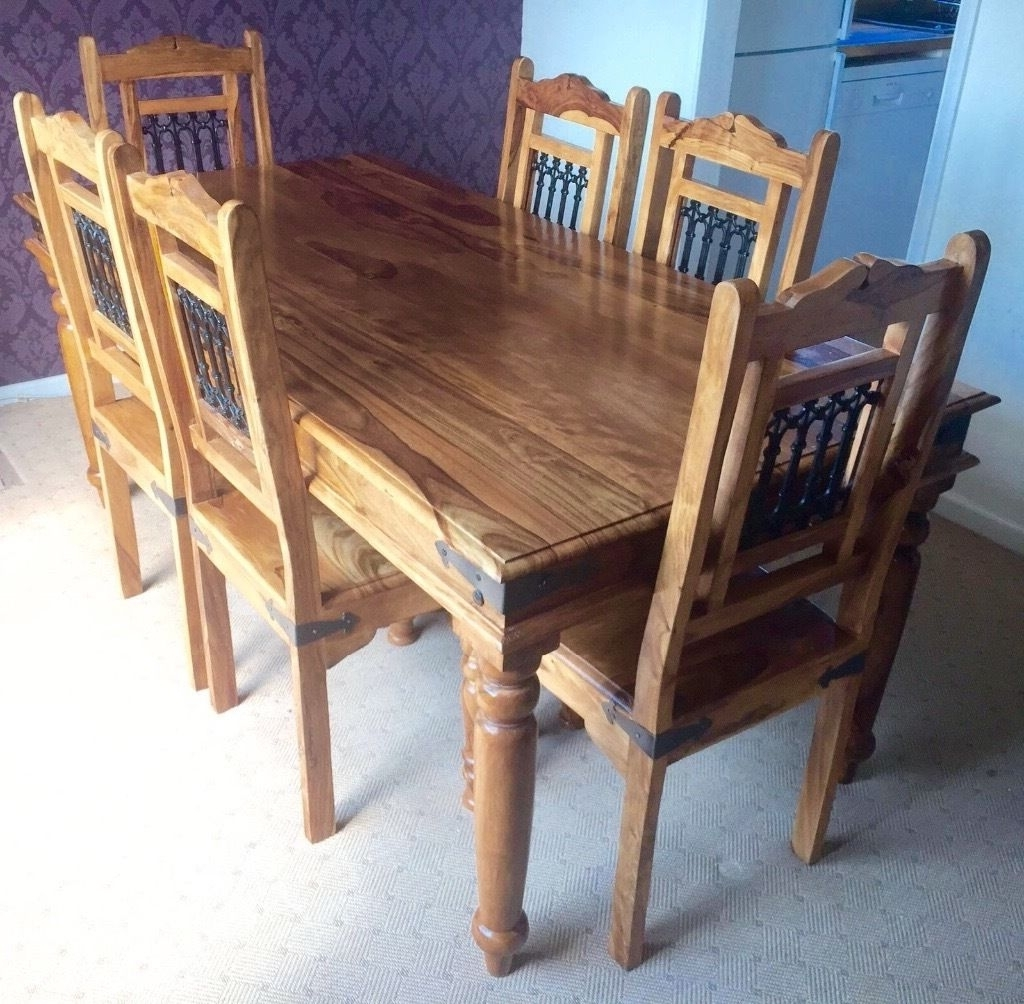 Well Known Splendid Sheesham Wood Dining Table Cm Indian And Throughout Remodel With Regard To Indian Wood Dining Tables (View 24 of 25)