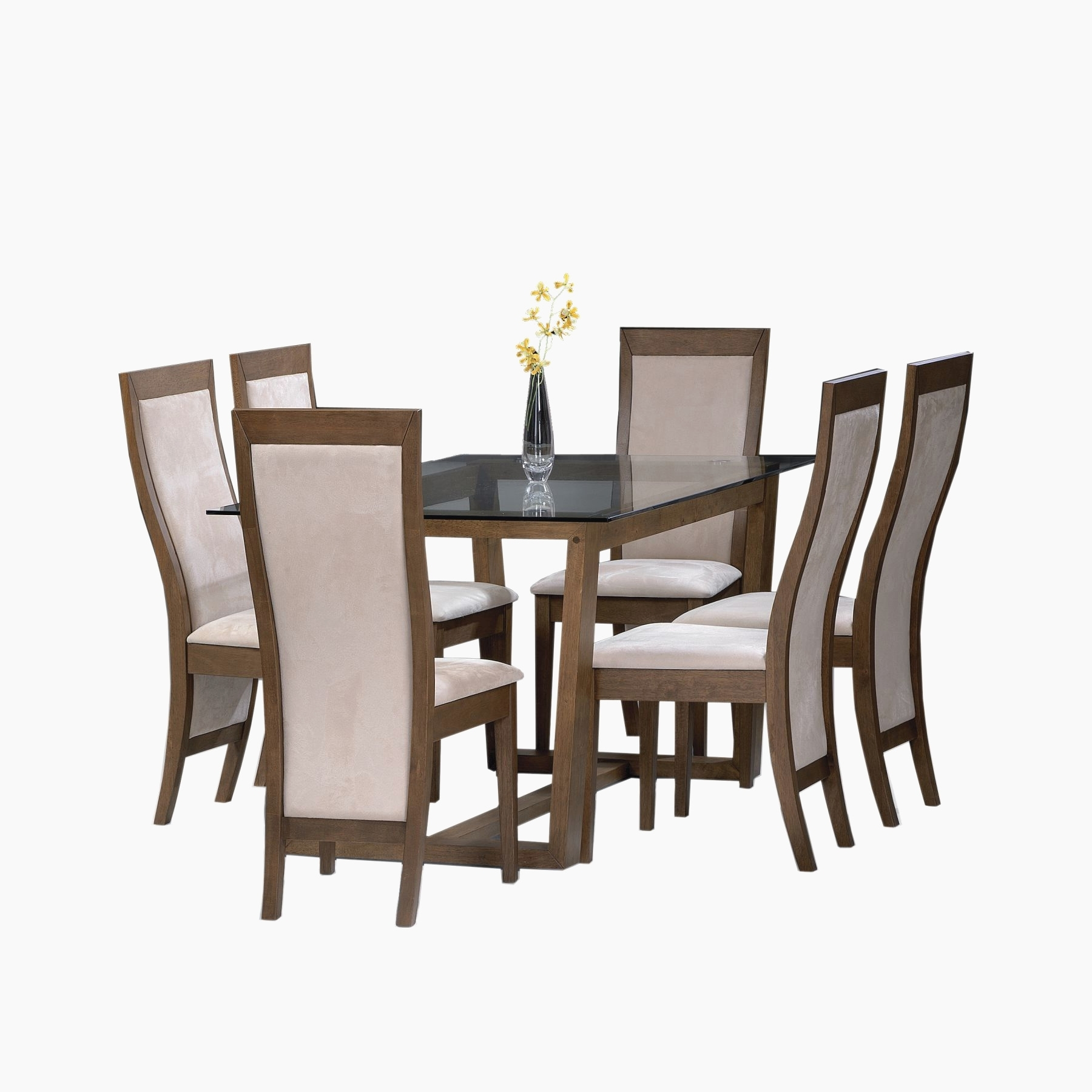 Well Known Square Black Glass Dining Tables For Round Black Glass Dining Table Trends Interior And Exterior (View 21 of 25)