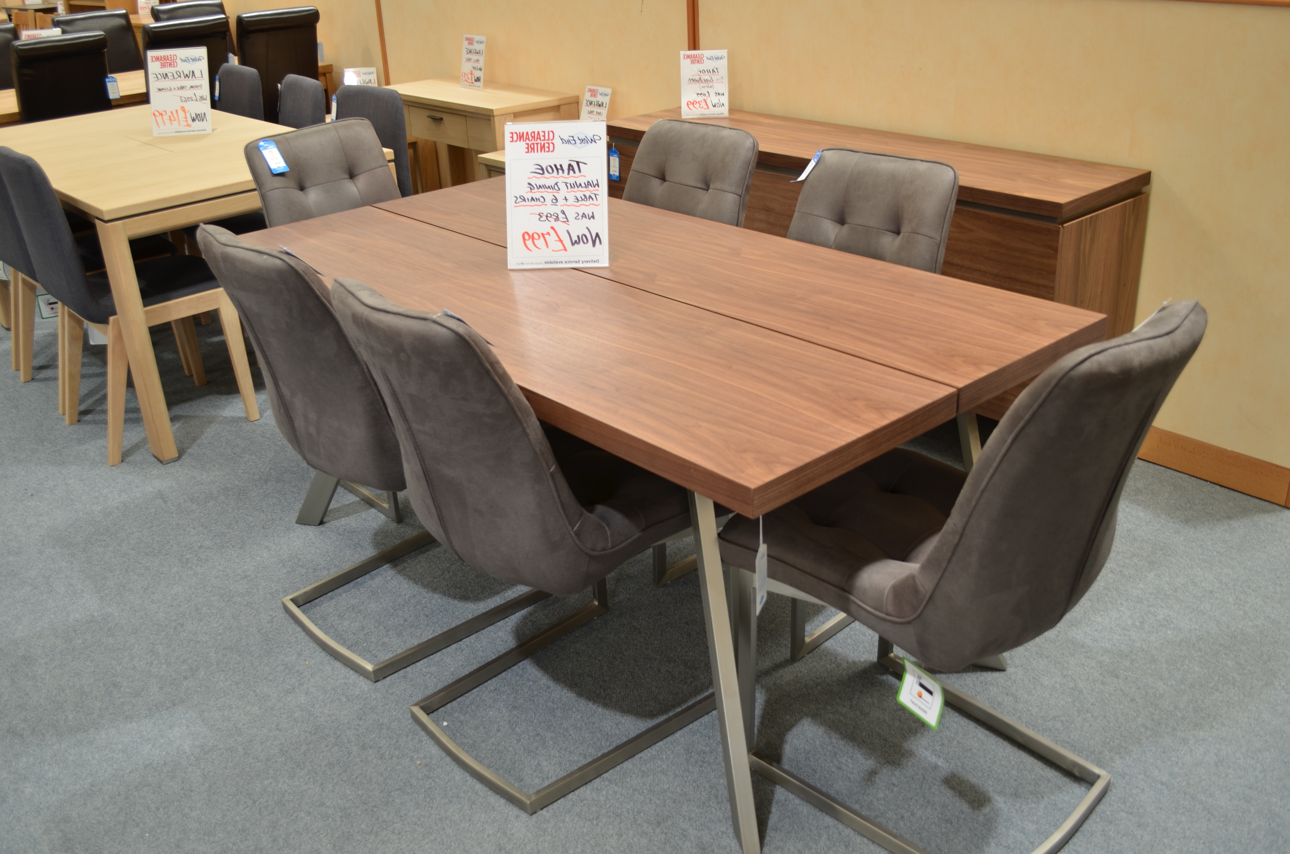Well Known Tahoe Walnut Dining Table & 6 Chairs – Westend Furniture In Walnut Dining Table And 6 Chairs (View 18 of 25)