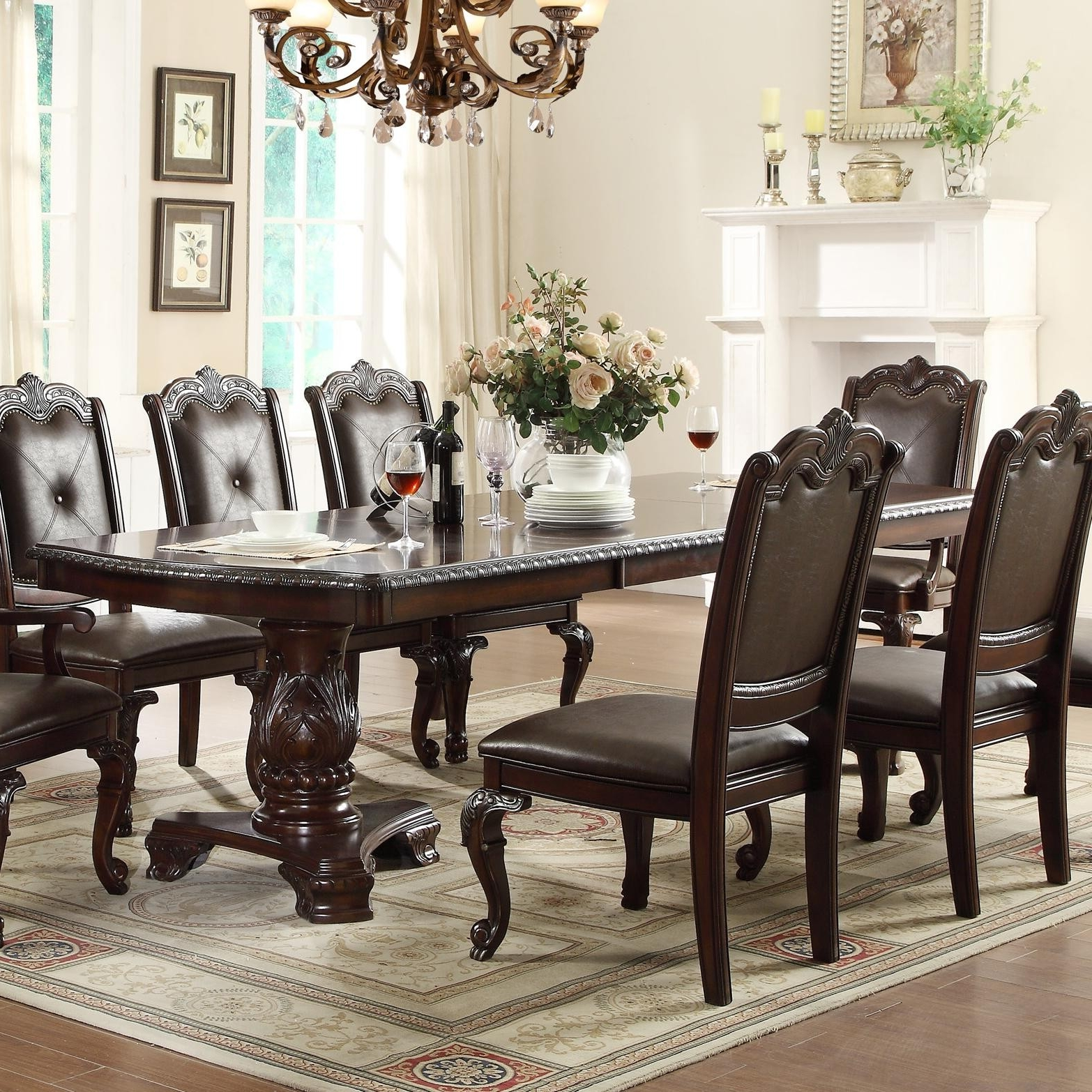Well Known Traditional Dining Tables In Traditional Dining Room Tables New Crown Mark Kiera Traditional (View 23 of 25)