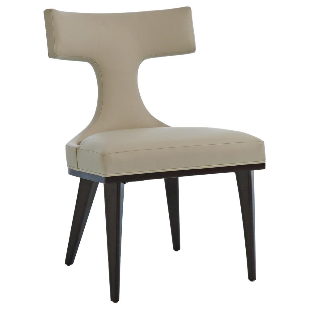 Well Known Truman Modern Classic Ivory Leather Upholstered Anvil Dining Chair For Ivory Leather Dining Chairs (View 7 of 25)
