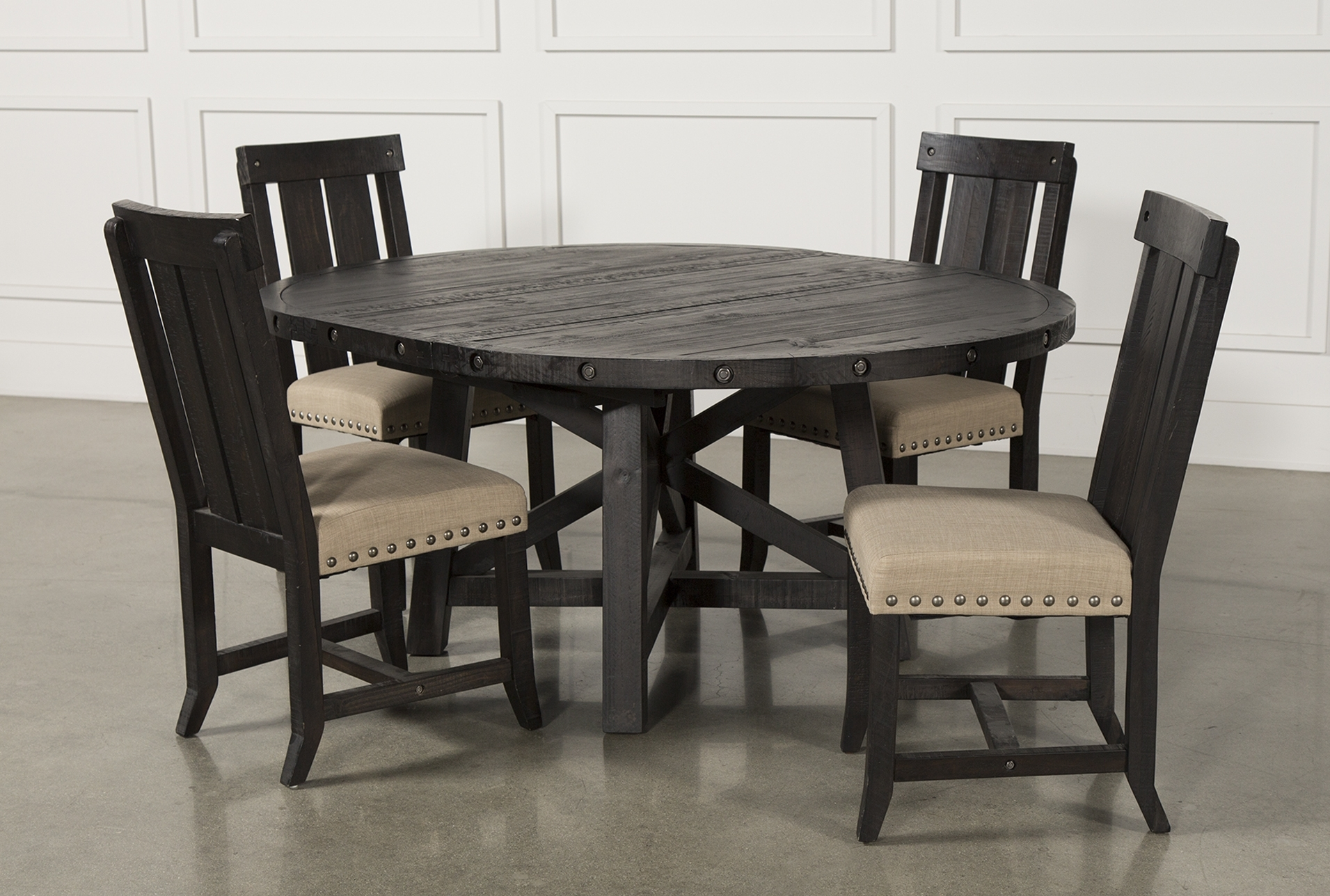 Well Known Valencia 5 Piece 60 Inch Round Dining Sets In Jaxon 5 Piece Extension Round Dining Set W/wood Chairs (View 24 of 25)