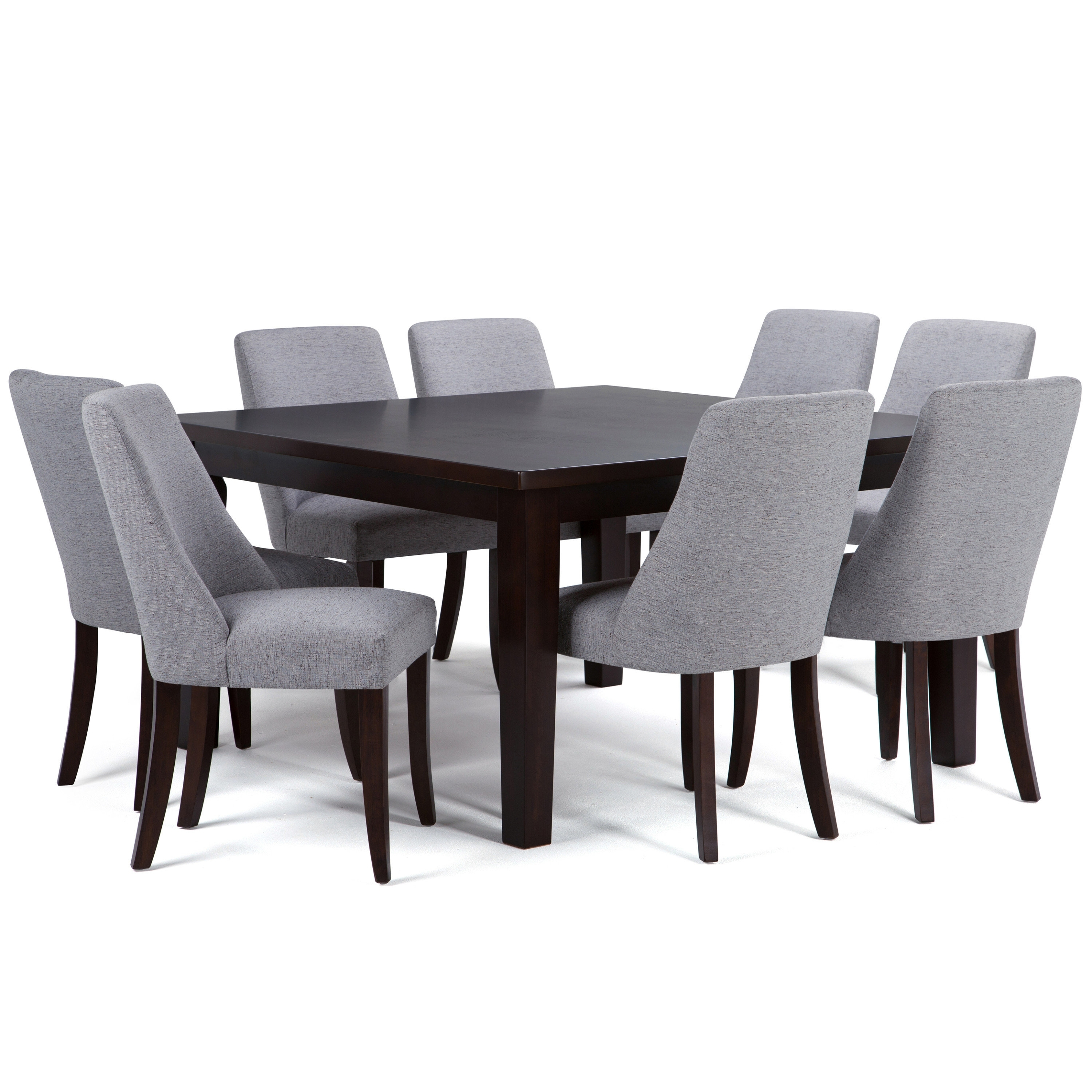 Well Known Walden Extension Dining Tables Pertaining To Simpli Home Walden 9 Piece Solid Wood Dining Set (View 3 of 25)
