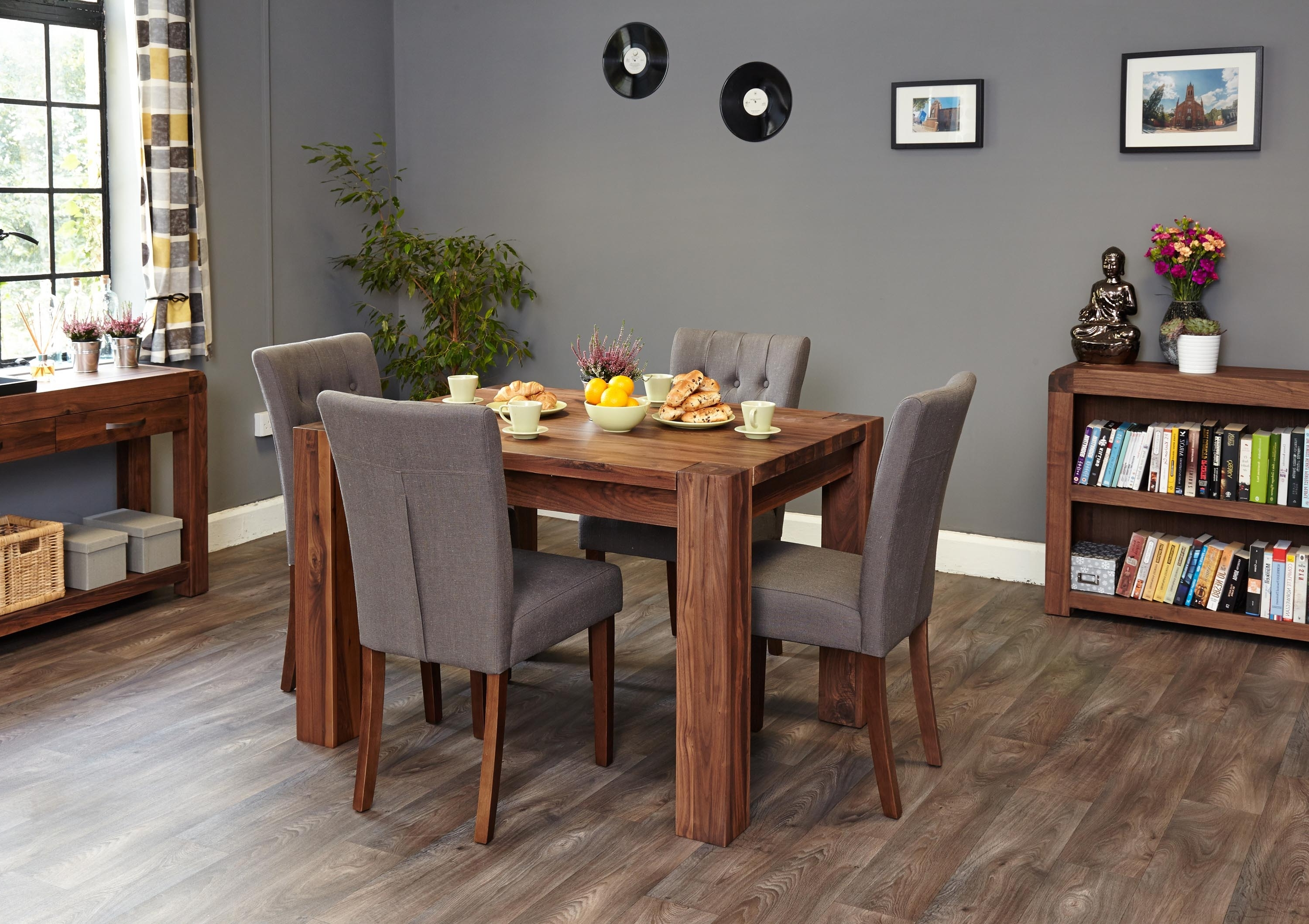 Well Known Walnut Dining Table Sets Intended For Mayan Walnut Dining Table (4 Seater) (Cdr04A) (View 22 of 25)