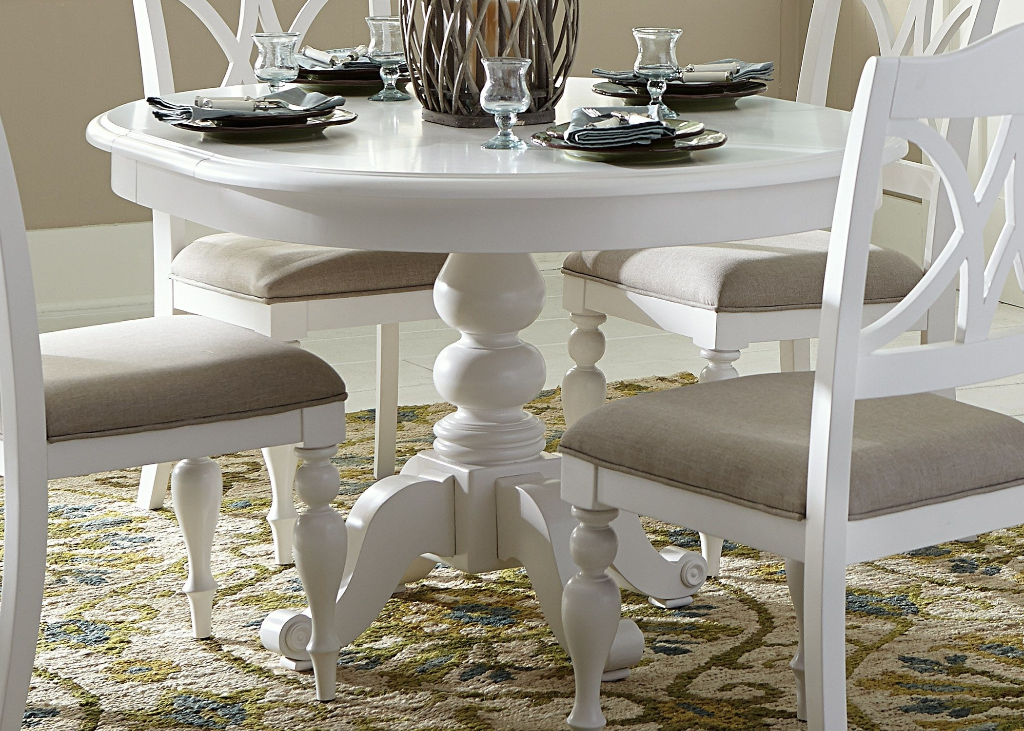 Well Known White Dining Tables Intended For Round Table Dining Room Set Ideas For 4 – Home Decor Ideas (View 17 of 25)