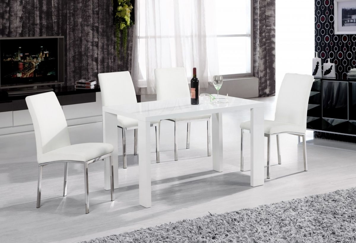 Well Known White Gloss Dining Room Furniture For High Gloss Dining Room Furniture – Domainmichael (View 17 of 25)