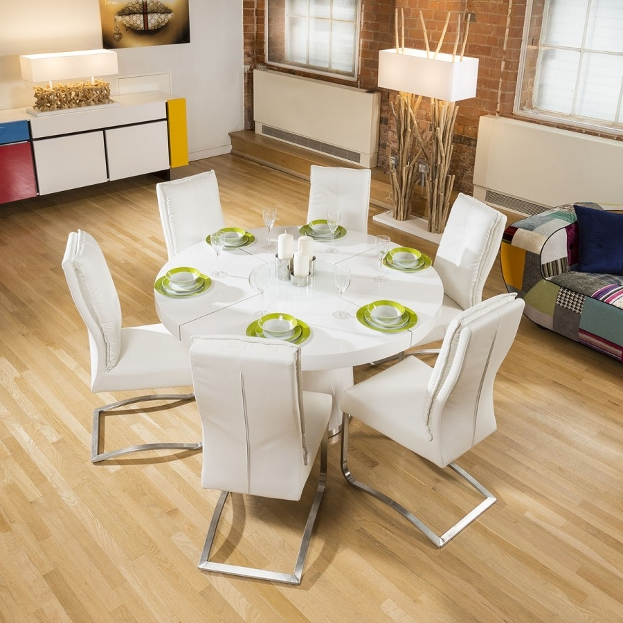 Well Known White Gloss Dining Tables 140Cm With Regard To Large  (View 21 of 25)