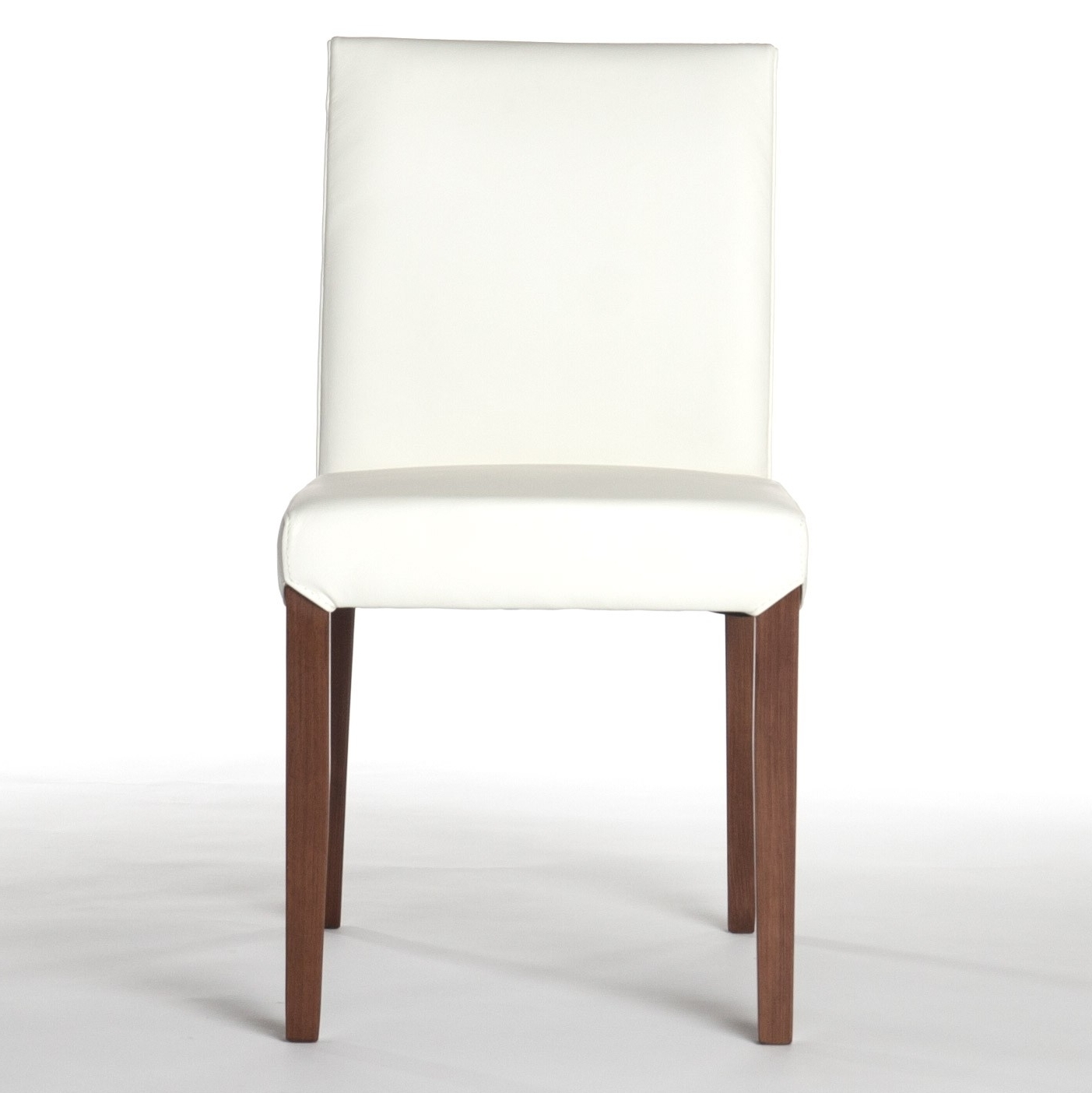Well Known White Leather Dining Chairs Throughout Real Leather Dining Chair In White (View 18 of 25)