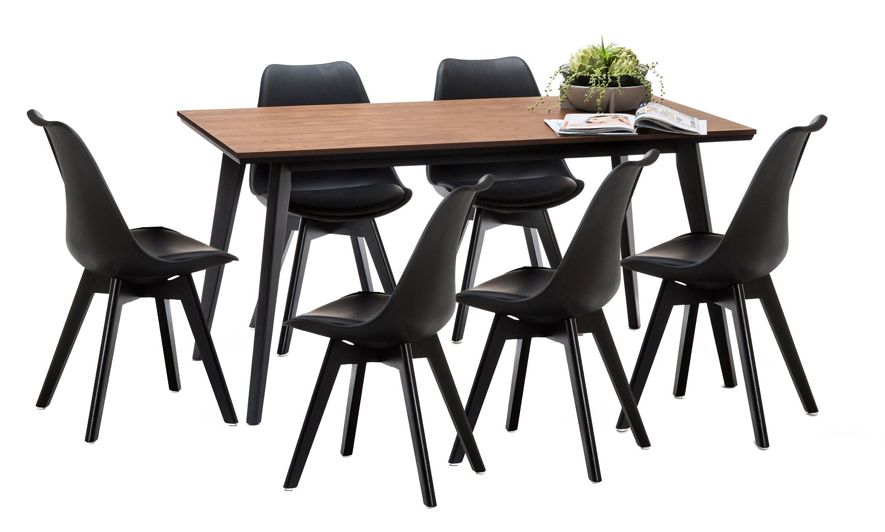 Well Known Wyatt Dining Tables Pertaining To Wyatt Dining Table Set With 6 Padded Eames Replica Chairs (View 20 of 25)