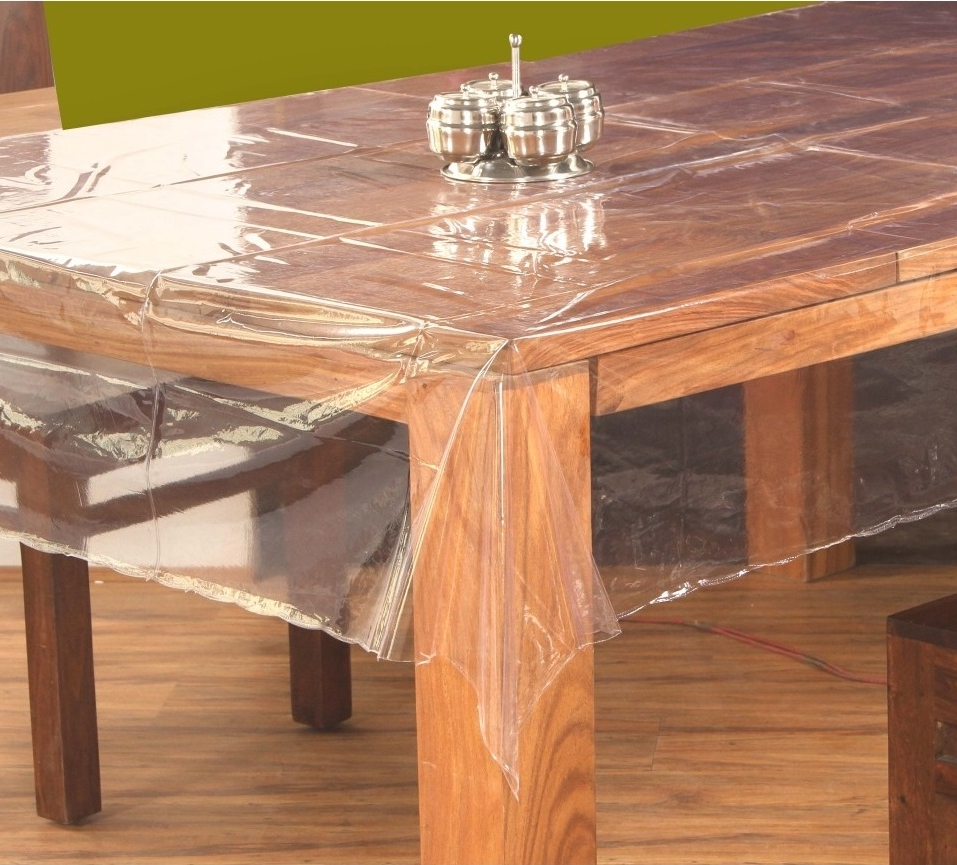 Well Liked 60 X 90 (Oval) Clear Transparent Table Cover In Clear Plastic Dining Tables (View 24 of 25)