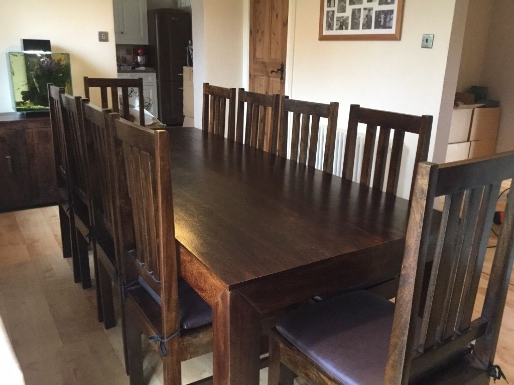 Well Liked 8 10 Seater Dining Table And 10 Chairs (View 24 of 25)