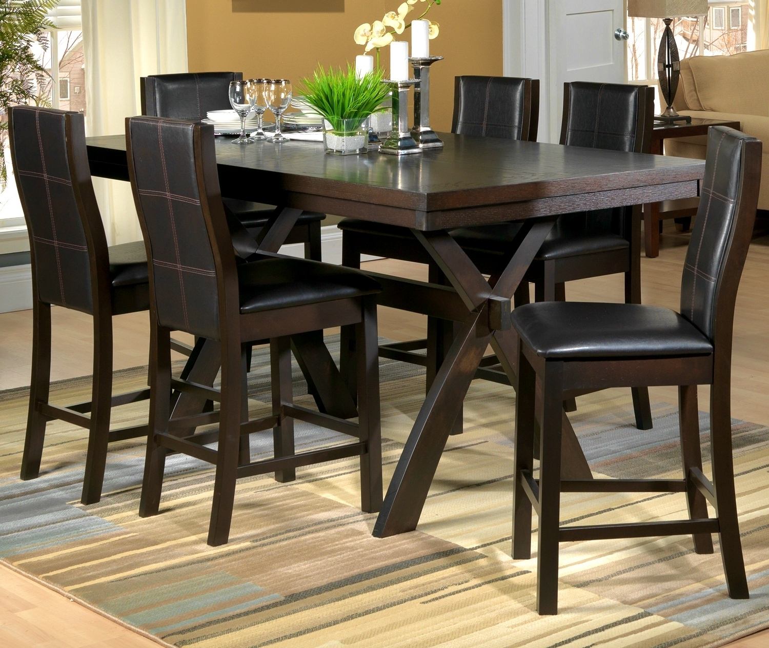 Well Liked Awesome Costco Dining Room Table 20 – Esescatrina Within Leon 7 Piece Dining Sets (View 10 of 25)
