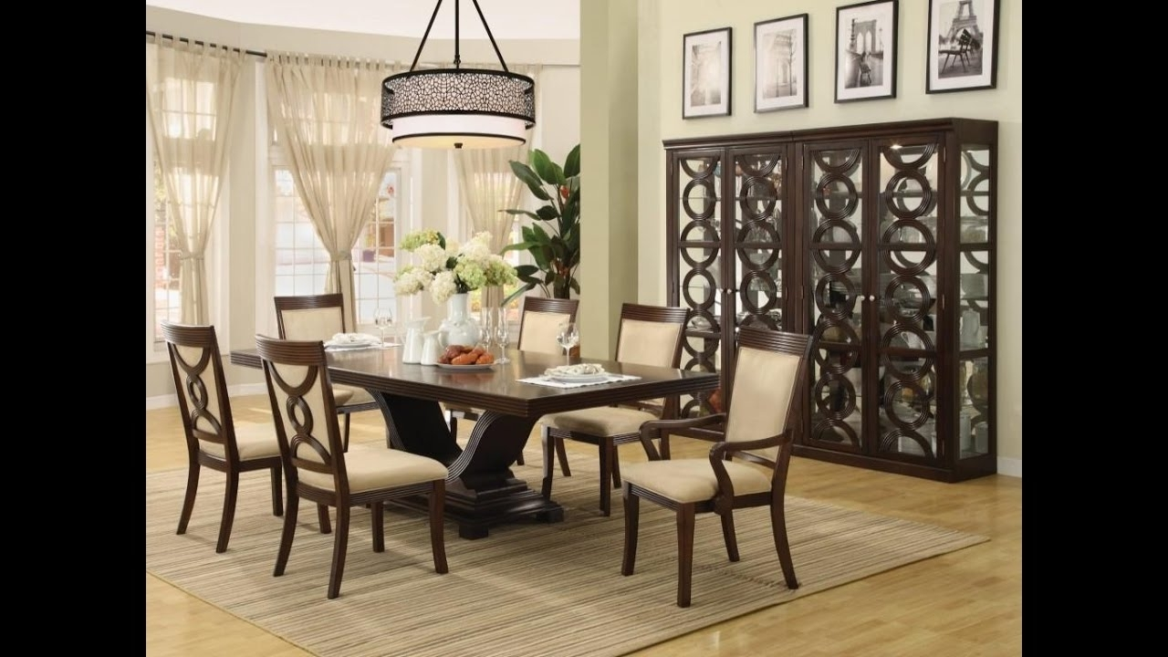 Well Liked Centerpieces For Dining Room Table – Youtube Intended For Dining Room Tables (View 10 of 25)