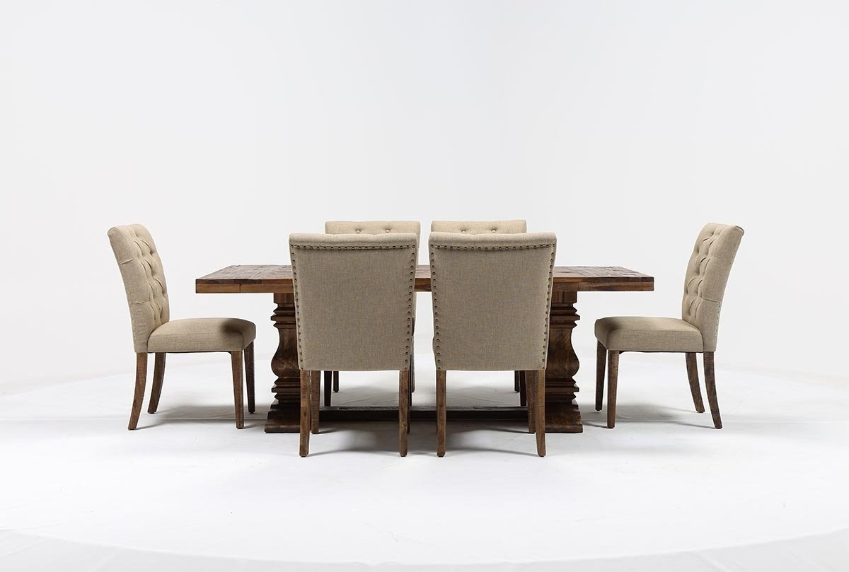 Well Liked Combs 7 Piece Dining Sets With  Mindy Slipcovered Chairs Inside Partridge 7 Piece Dining Set (View 12 of 25)