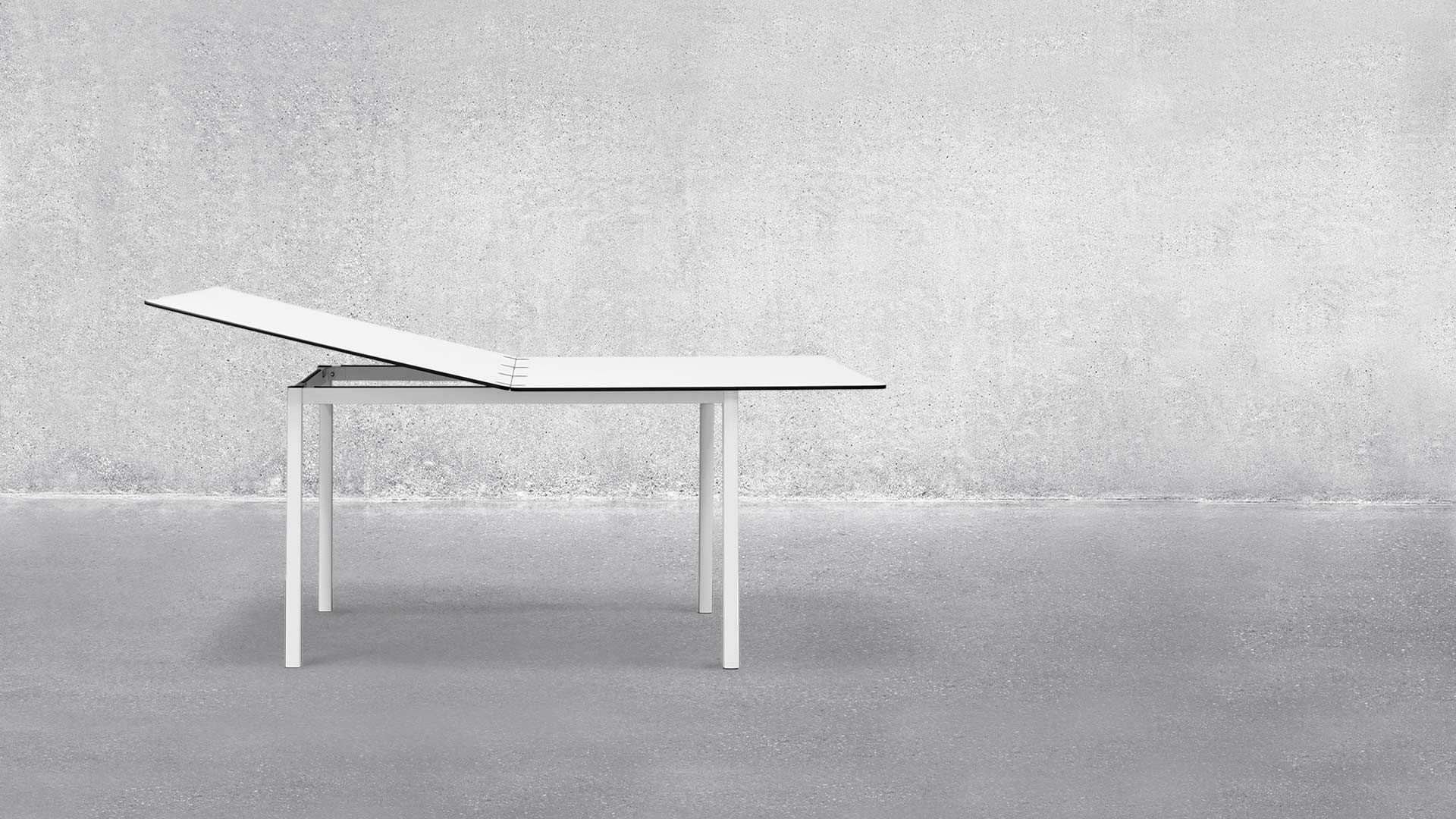 Well Liked Contemporary Dining Table / Laminate / Aluminum / Rectangular With Lassen Round Dining Tables (View 21 of 25)