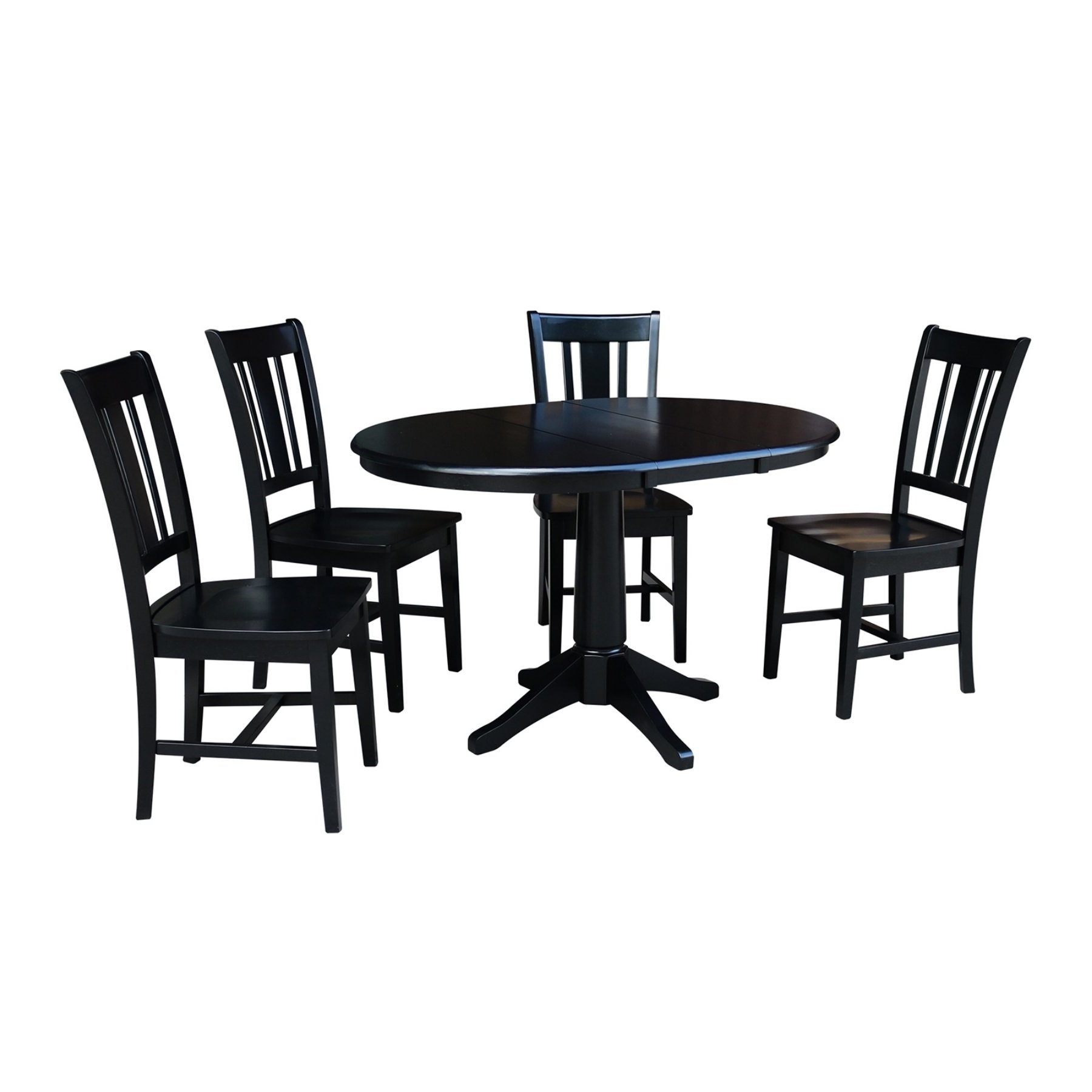 Well Liked Craftsman 5 Piece Round Dining Sets With Side Chairs Intended For International Concepts 5 Piece Dining Table Set With Extension Leaf (View 22 of 25)