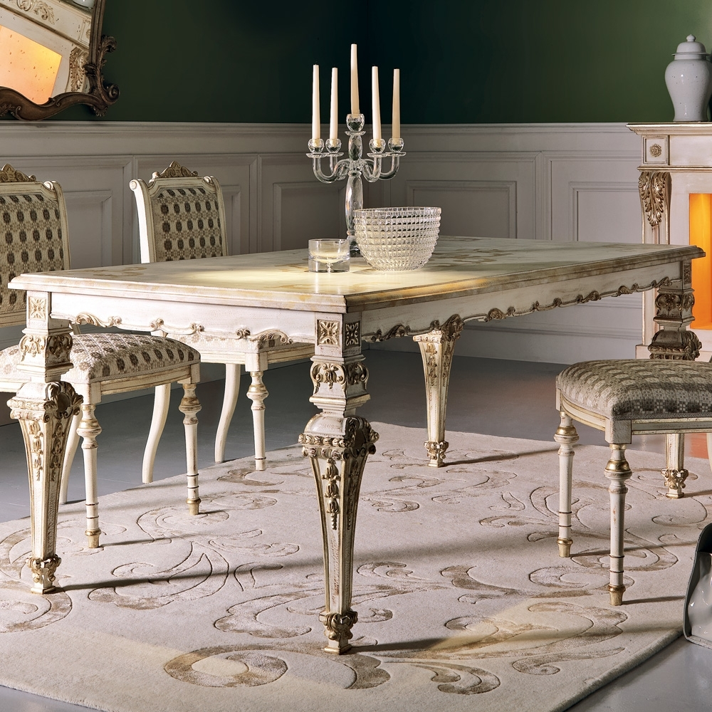 Well Liked Cream Lacquer Dining Tables In Ornate Italian Louis Xiv Dining Table (View 22 of 25)