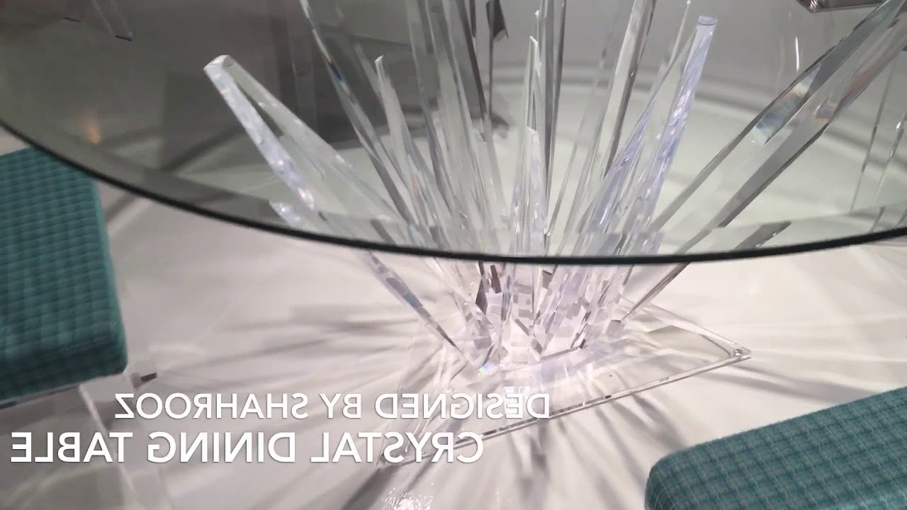 Well Liked Crystal Dining Tables With Crystal Acrylic Dining Table Cr1600Shahrooz – Youtube (View 22 of 25)