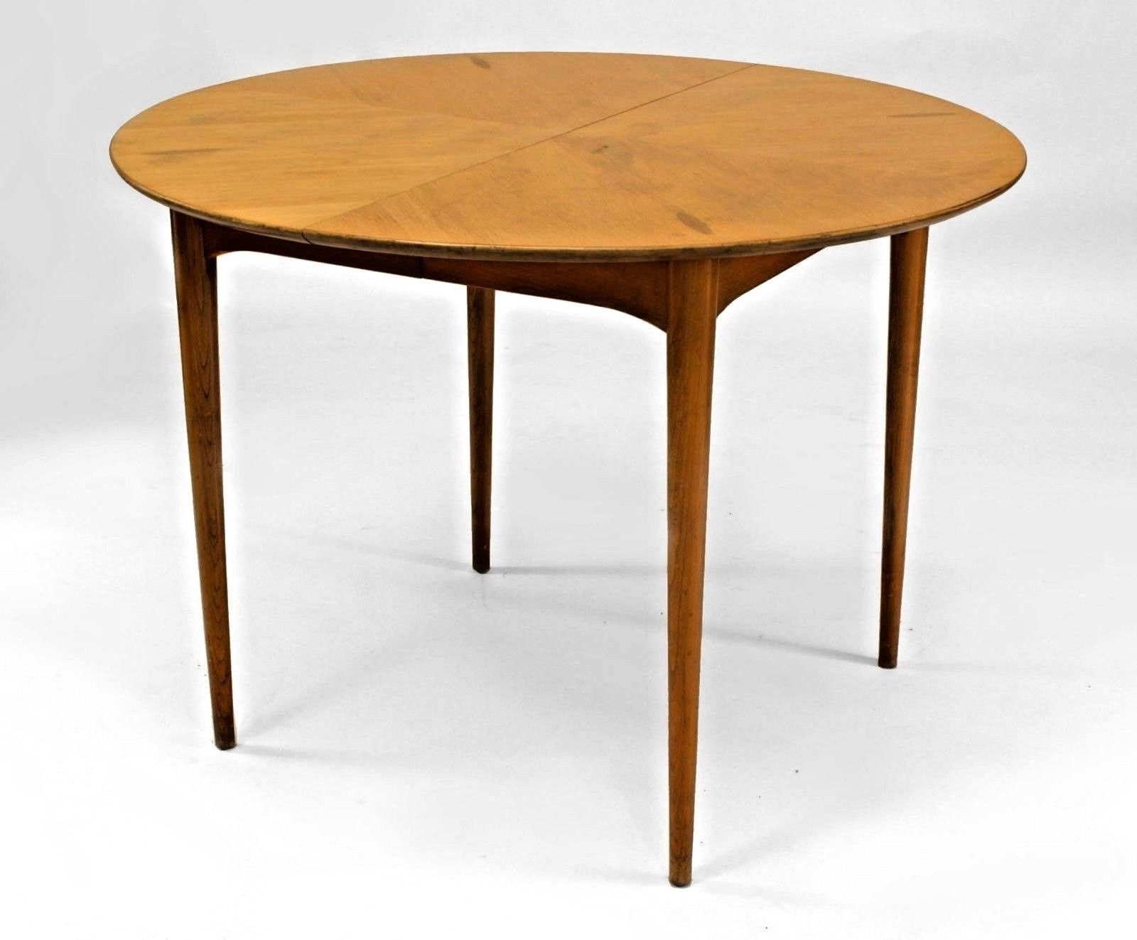 Well Liked Danish Style Dining Tables Within Post War Design (Danish Style)1950S Light Wood (Pecan) Round Dining (View 4 of 25)