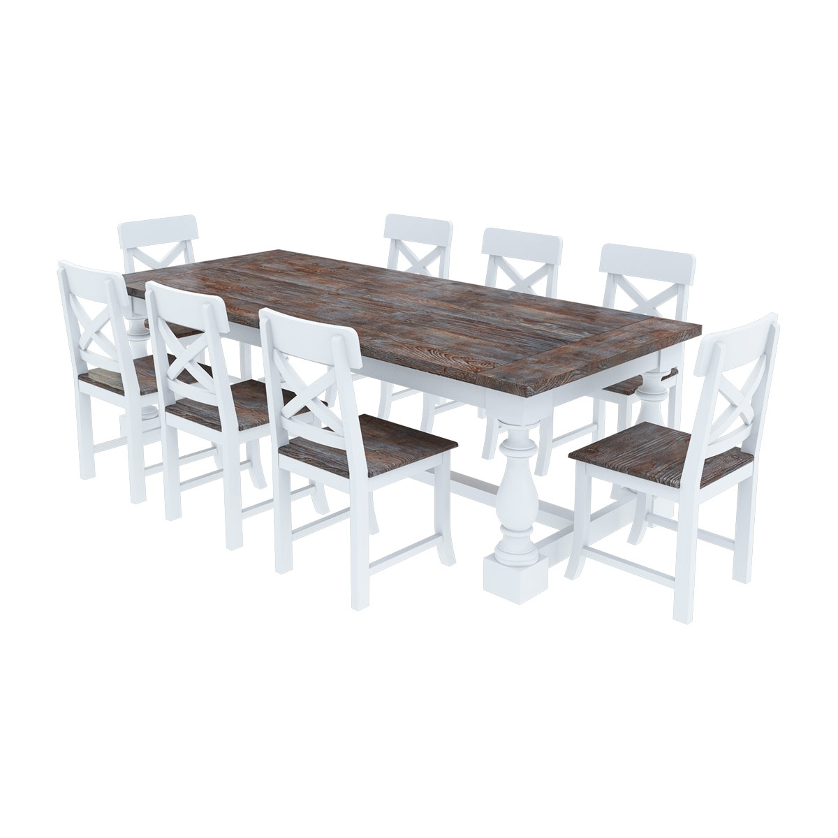 Well Liked Danville Modern Teak And Solid Wood Dining Table With 8 Chairs Set Inside Solid Oak Dining Tables And 8 Chairs (View 25 of 25)
