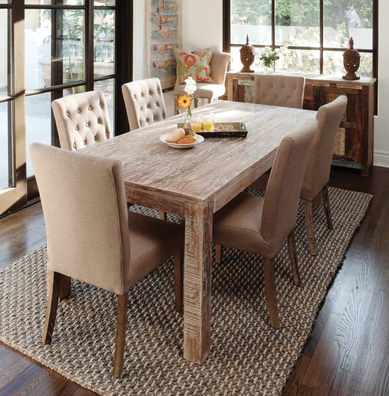 Well Liked Dark Wood Dining Tables With Dining Room Rustic Contemporary Dining Table Rustic Tall Kitchen (View 25 of 25)