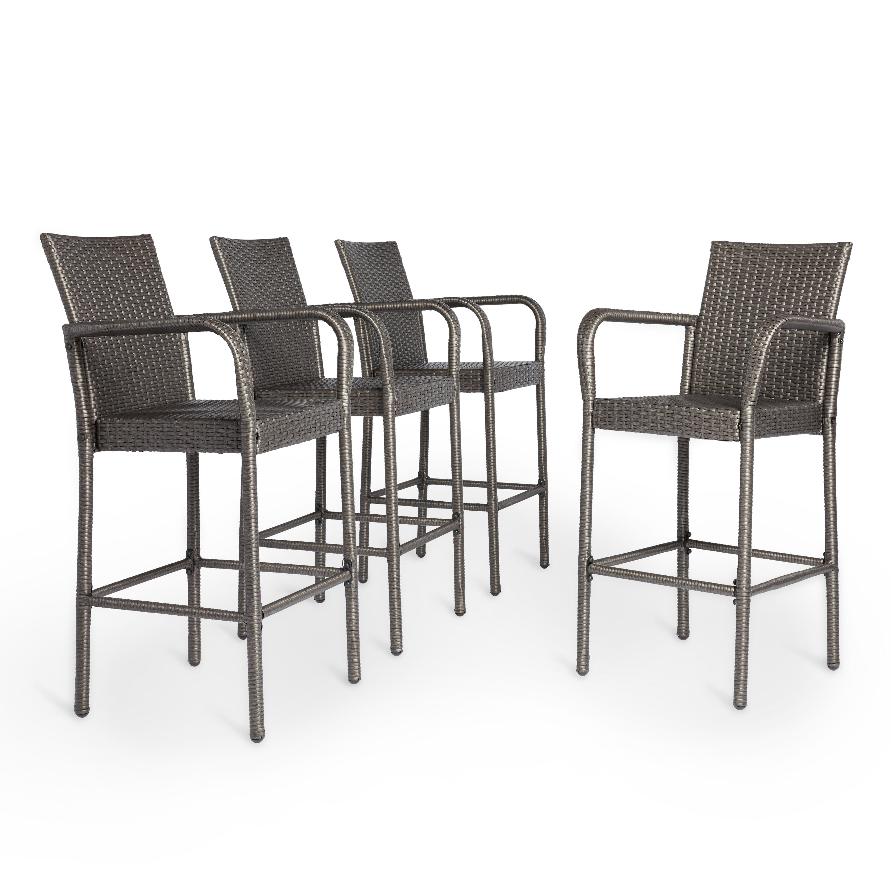 Well Liked Delfina Dining Tables Regarding Delfina Outdoor Wicker Barstool (Set Of 4)Christopher Knight (View 24 of 25)