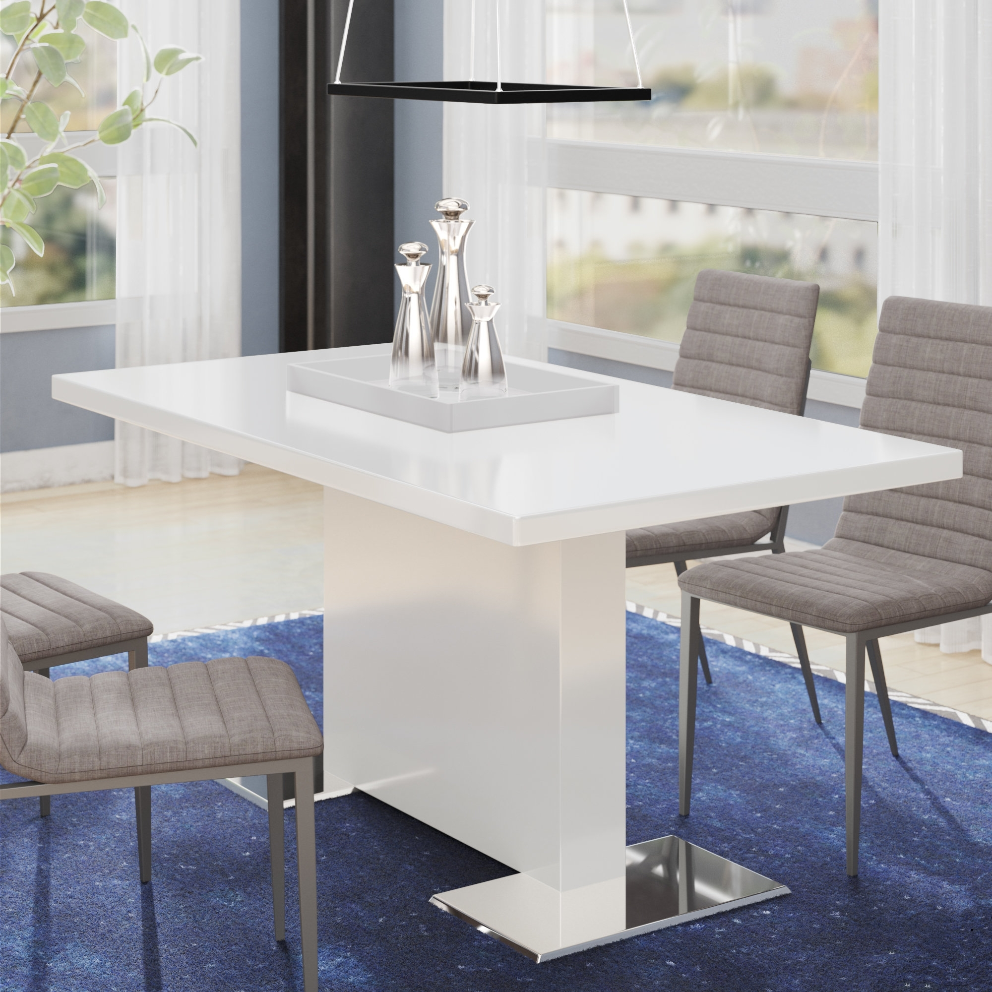 Well Liked Delfina Dining Tables With Wade Logan Plumville Dining Table & Reviews (View 25 of 25)