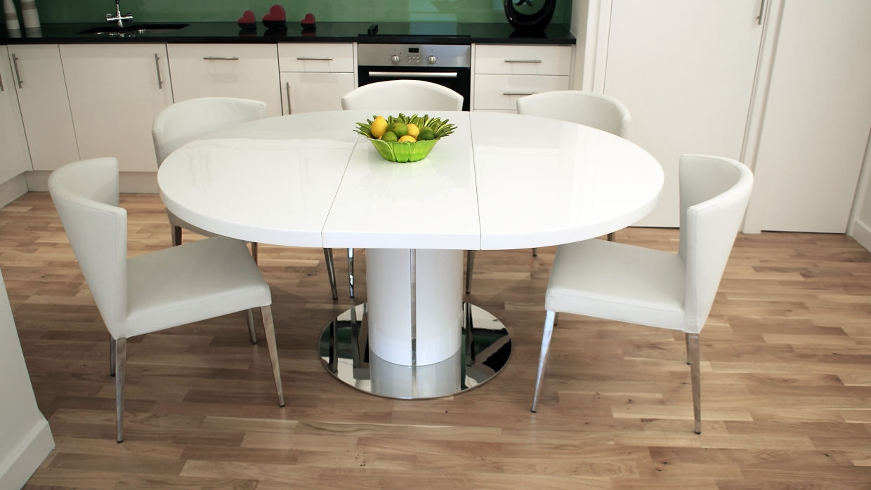 Well Liked Dining Room: White Dining Table With Round Dining Table For 6 People Pertaining To 8 Seater White Dining Tables (View 24 of 25)