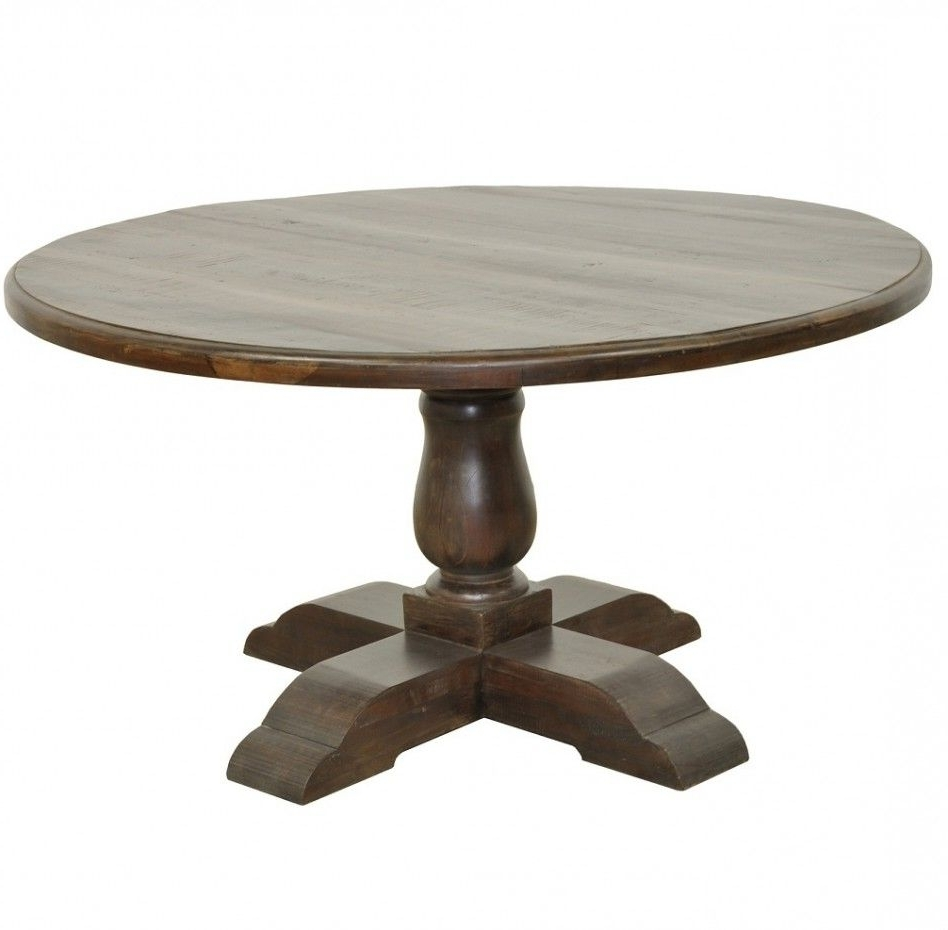 Well Liked Easy On The Eye Round Wooden Pedestal Dining Table (View 24 of 25)