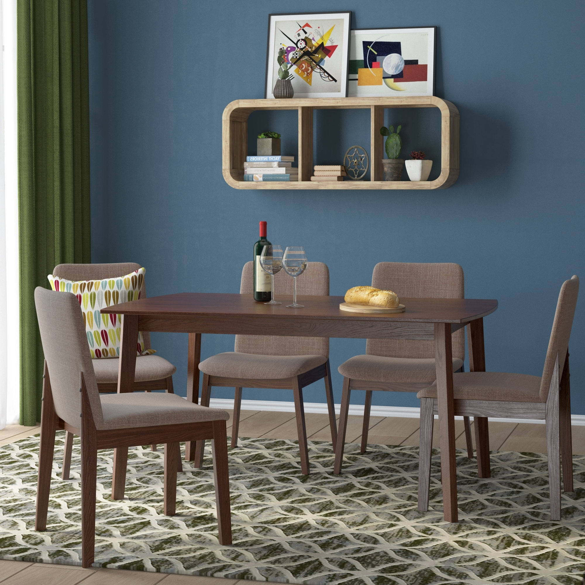 Well Liked Extendable Dining Table And 4 Chairs Throughout Langley Street Tahquitz Extendable Dining Table And 4 Chairs (View 24 of 25)