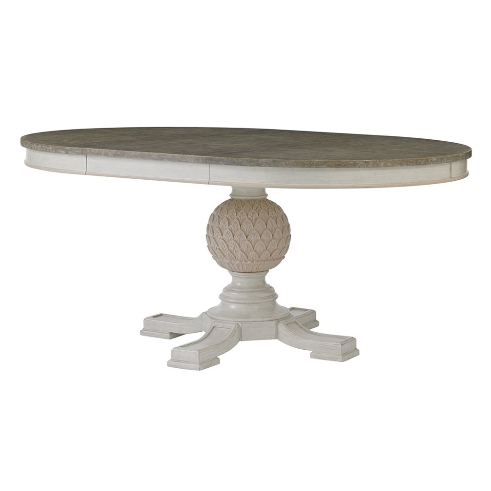 """Well Liked Extended Round Dining Tables Regarding Saybrook 48"""" Pedestal Table – Extends To 68"""" Oval – Luxe Home Company (View 22 of 25)"""