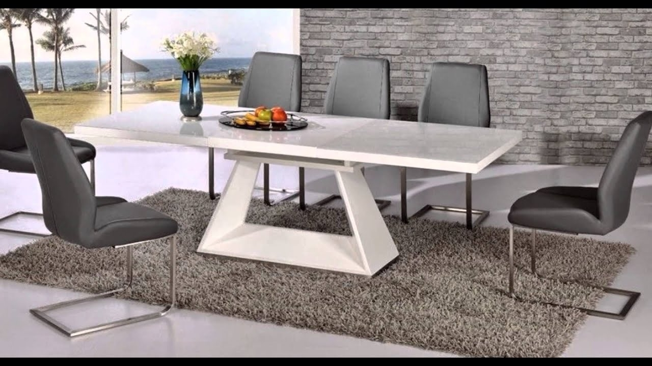 Well Liked Extending Glass Dining Tables And 8 Chairs For Extending Glass Dining Table And 8 Chairs – Youtube (View 23 of 25)