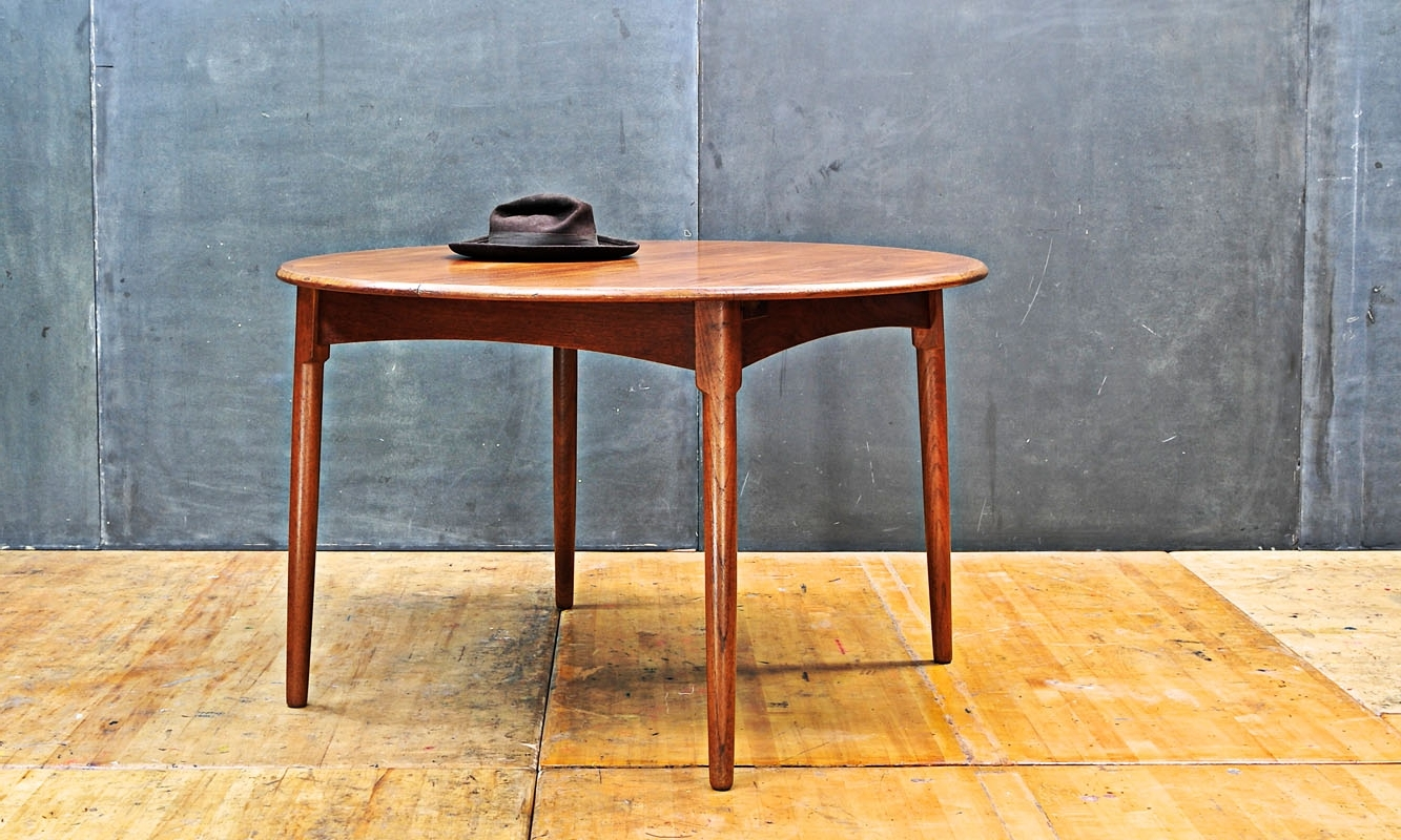 Well Liked Fifties Wagner Danish Modern Teak Dining Table Throughout Round Teak Dining Tables (View 10 of 25)