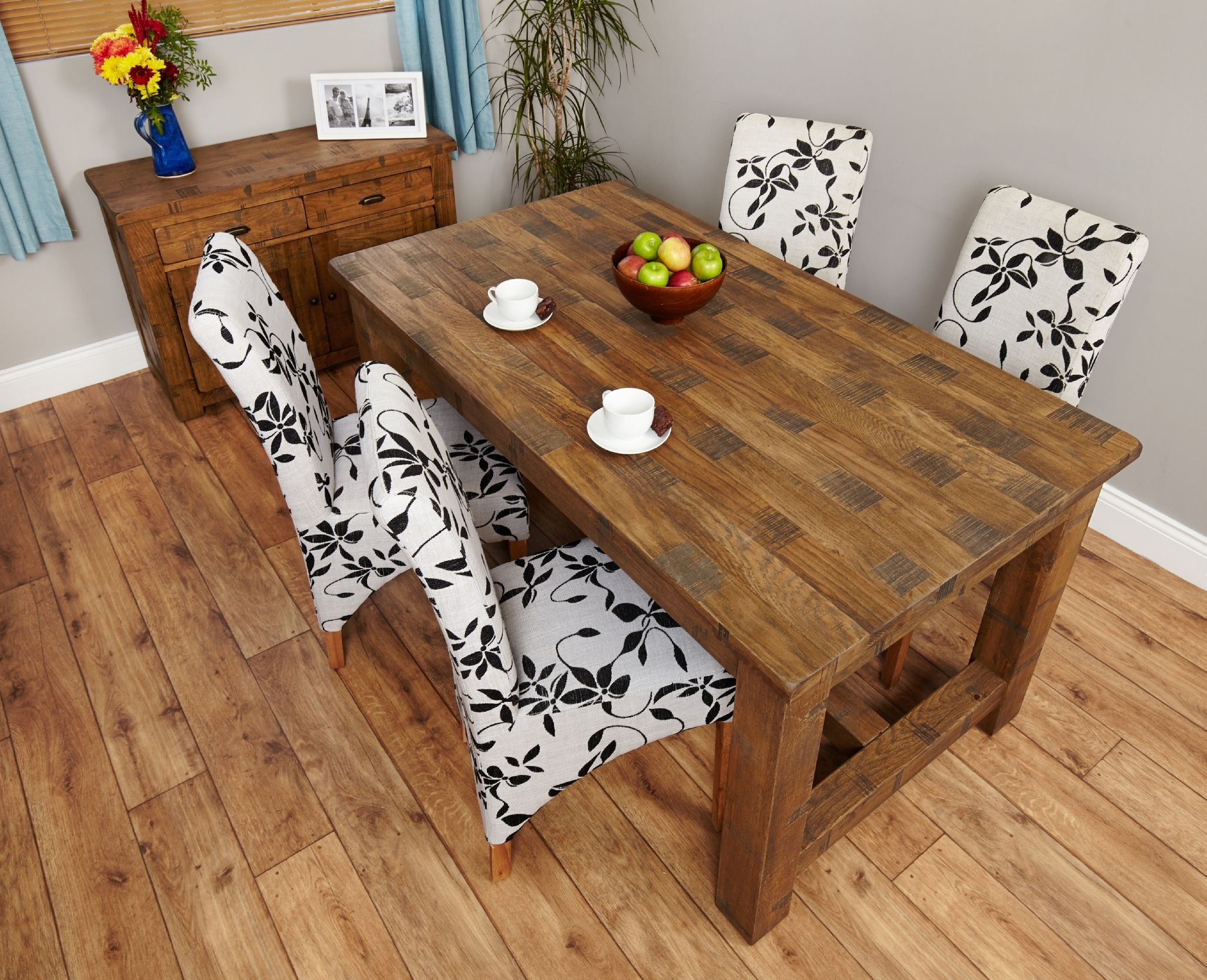 Well Liked Fixed Top Rustic Oak Dining Table (View 16 of 25)