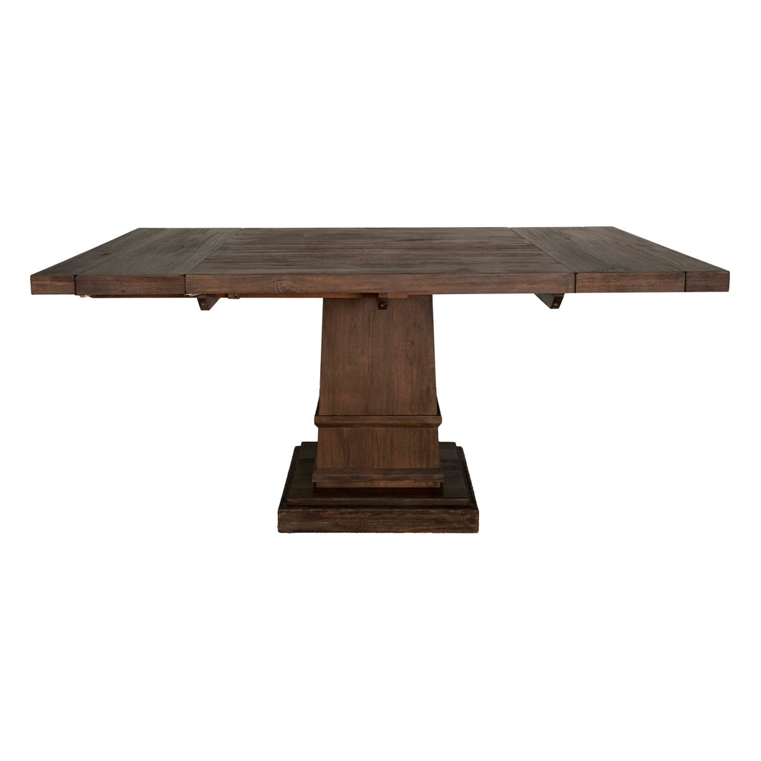 Well Liked Gracie Oaks Amos Modish Wooden Square Extendable Dining Table (View 25 of 25)