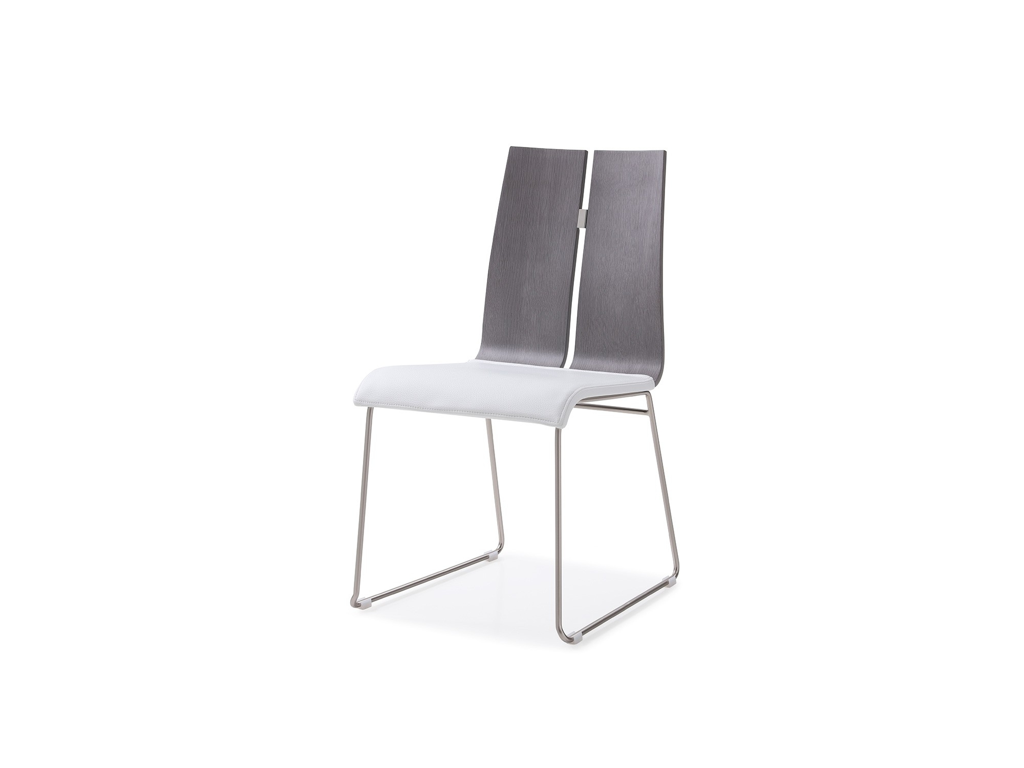 Well Liked High Gloss White Dining Chairs Throughout Lauren Dining Chair. High Gloss White Grey Faux Leather (View 23 of 25)