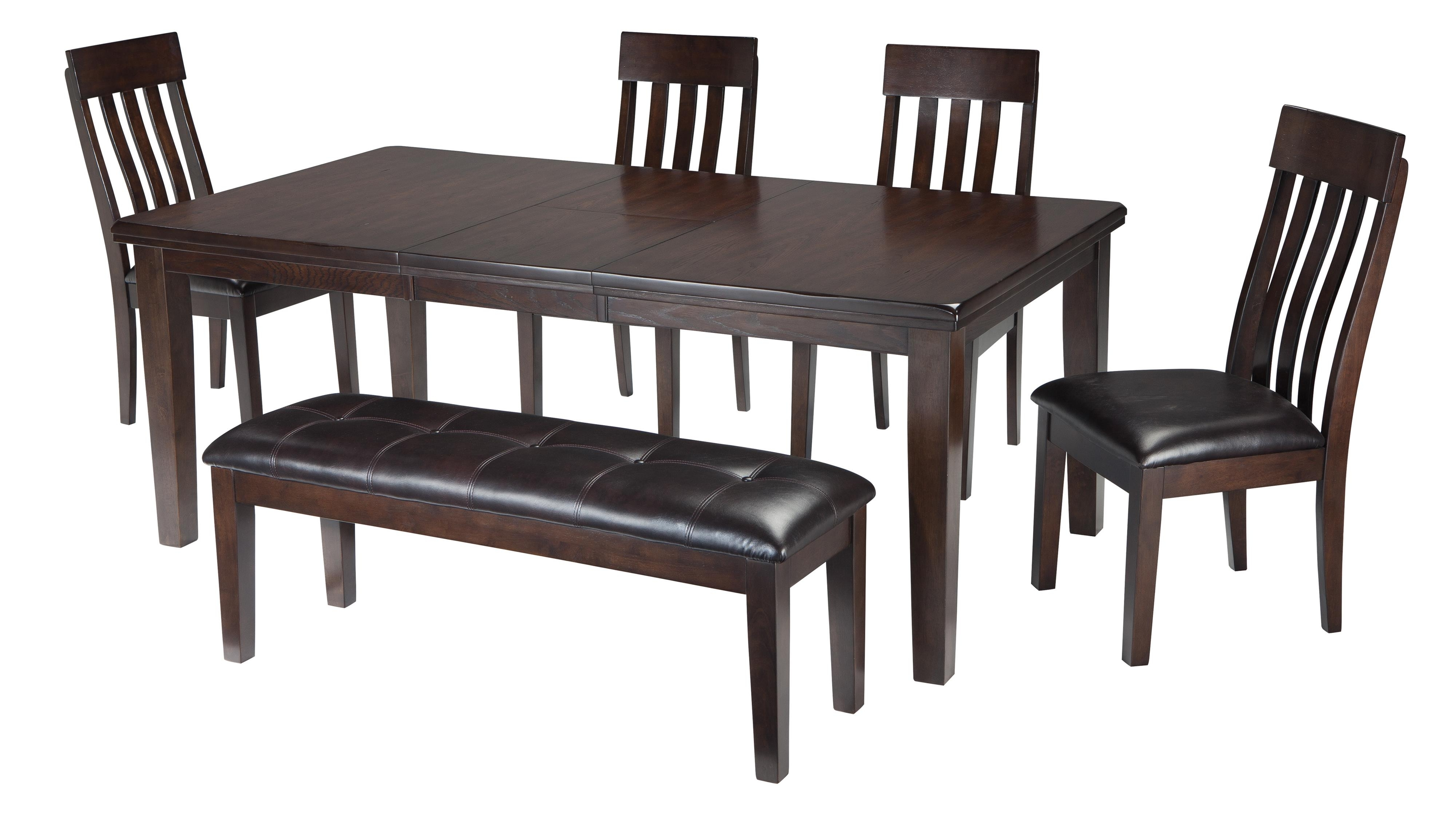 Well Liked Jaxon 5 Piece Extension Round Dining Sets With Wood Chairs In Signature Designashley Haddigan 6 Piece Rectangular Dining Room (View 9 of 25)