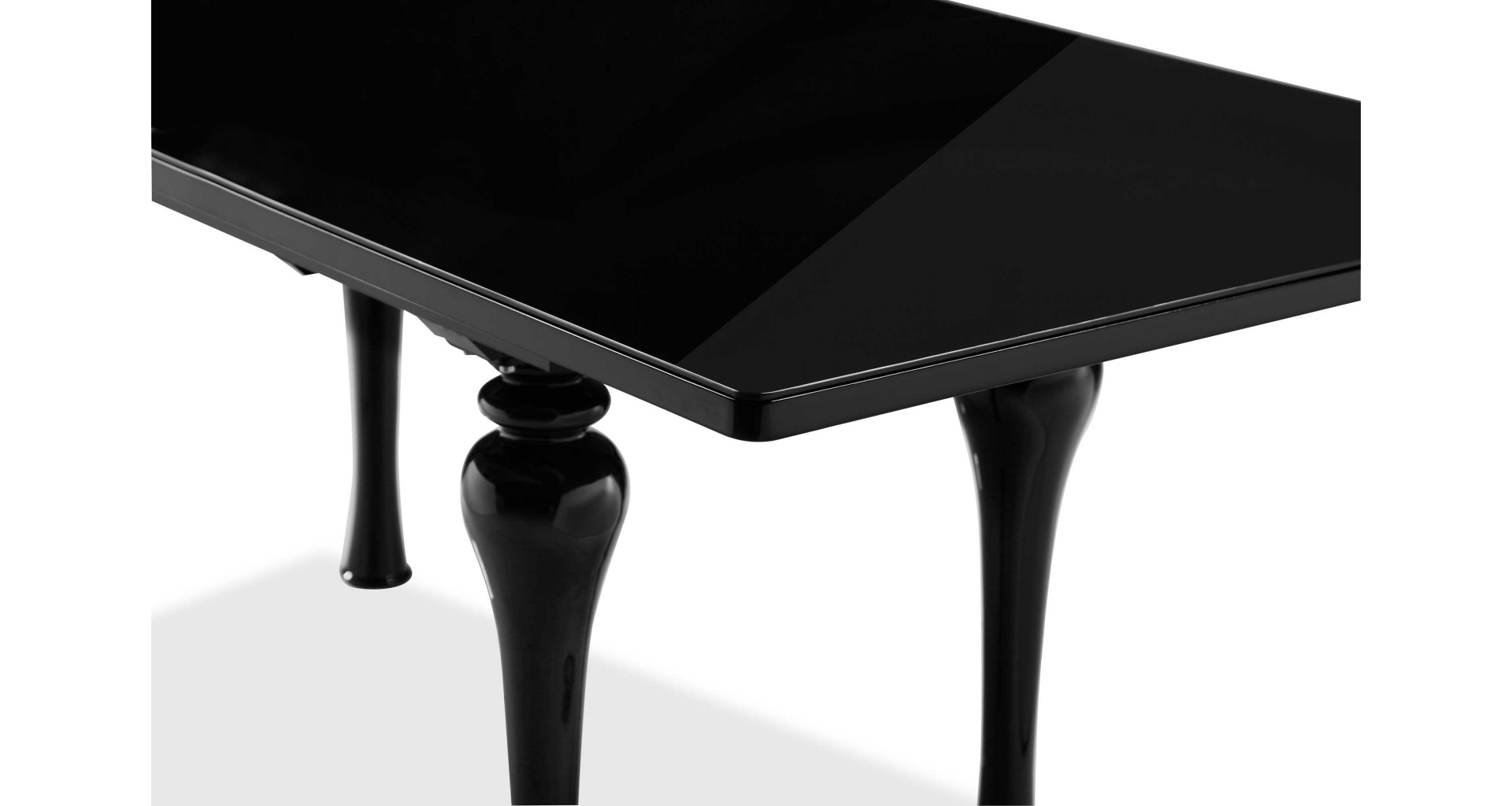 Well Liked Laurent – Extending Dining Table Black In Laurent Rectangle Dining Tables (View 17 of 25)