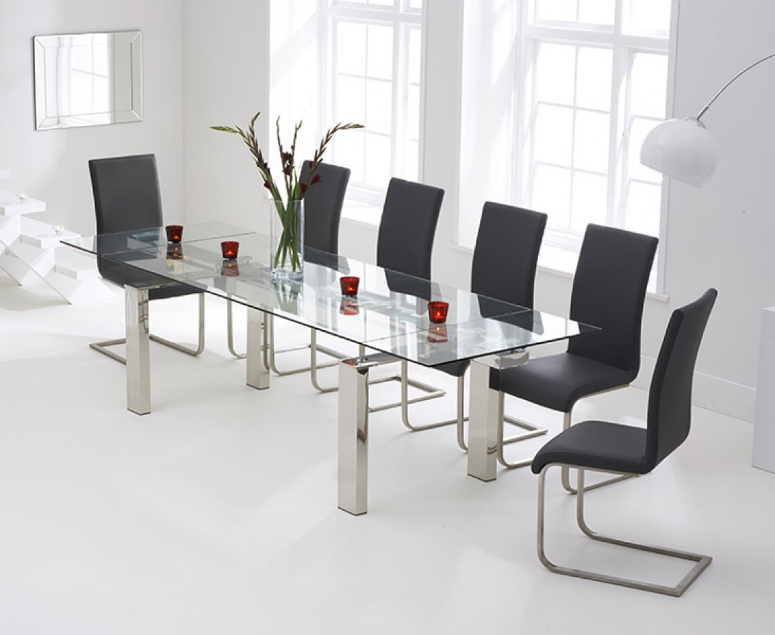 Well Liked Lazio 200Cm Glass Extending Dining Table With Malaga Chairs (View 22 of 25)