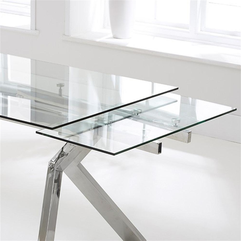 Well Liked Mark Harris Palazzo 200Cm Glass Extending Dining Table (View 22 of 25)