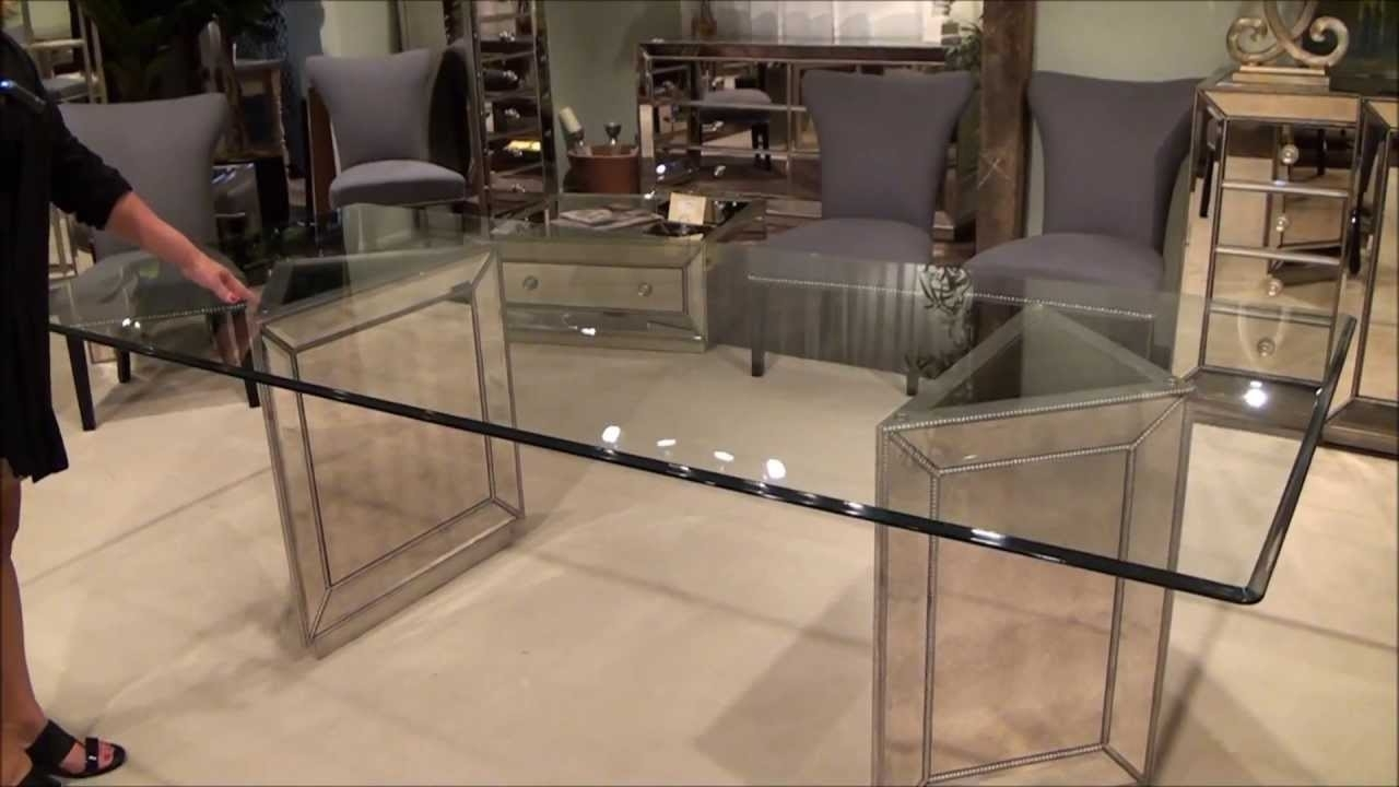 Well Liked Murano Double Pedestal Mirrored Dining Tablebassett Mirror Intended For Mirrored Dining Tables (View 24 of 25)