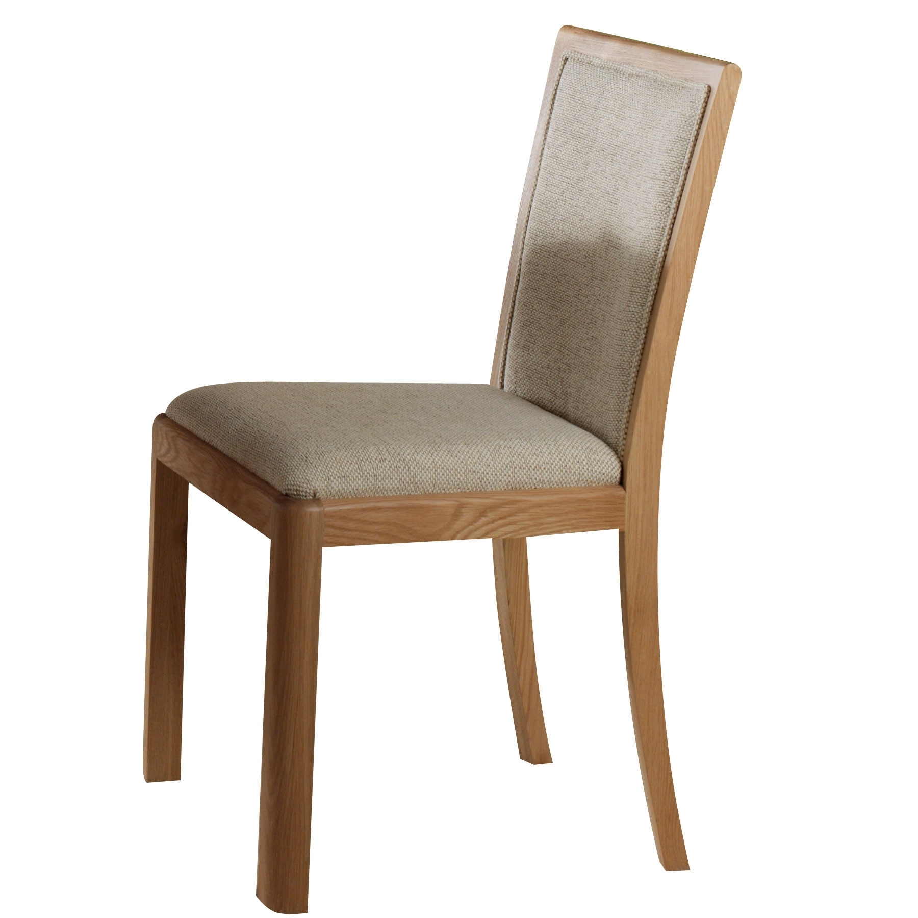 Well Liked Oak Dining Chairs Within Oslo Light Oak Dining Chair With Fabric Back And Seat (View 8 of 25)