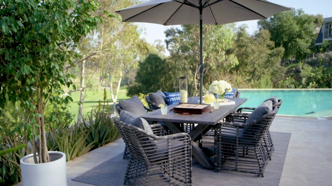 Well Liked Outdoor Tortuga Dining Tables In Outdoor Tortuga 7 Piece Dining Set With Koro Chair (View 25 of 25)