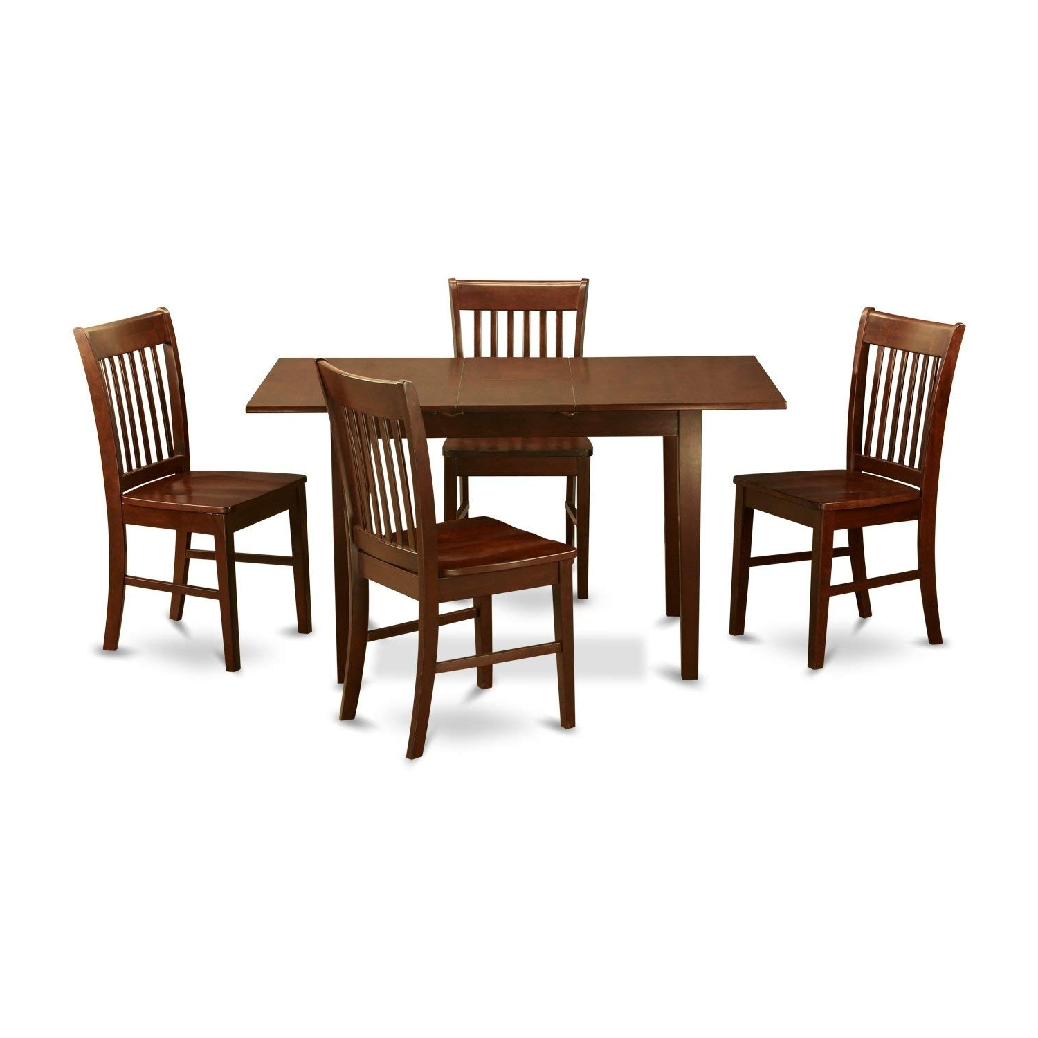 Well Liked Pierce 5 Piece Counter Sets With Regard To Amazon – East West Furniture Nofk5 Mah W 5 Piece Kitchen Table (View 24 of 25)