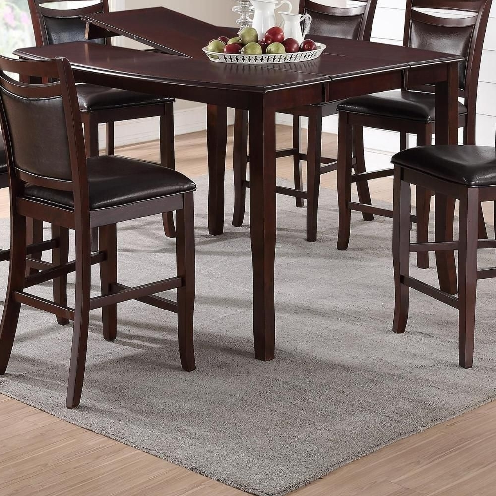 Well Liked Pierce 5 Piece Counter Sets With Regard To Anticardium Wood Counter Height Extension Table Brown In  (View 25 of 25)