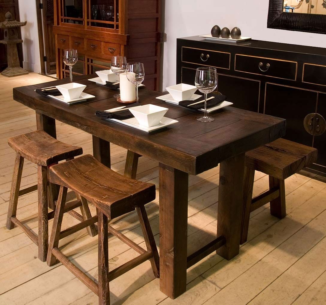 Well Liked Plain Decoration Narrow Dining Table With Bench Nice Design Ideas Pertaining To Narrow Dining Tables (View 24 of 25)